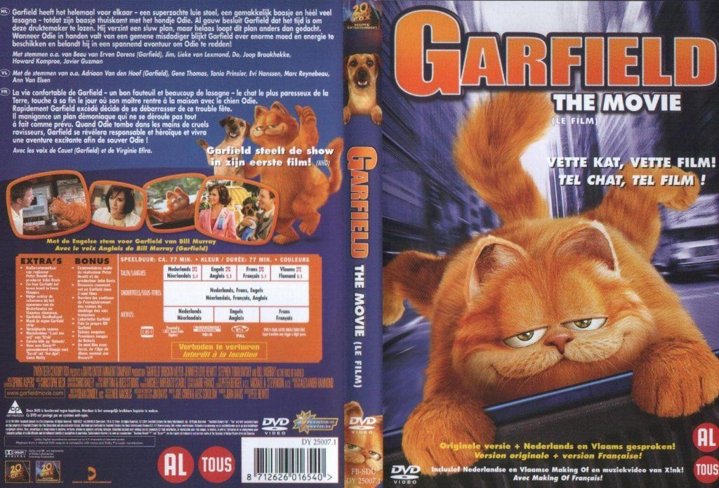 Garfield The Movie Dvd Nl Dvd Covers Cover Century Over 500 000 Album Art Covers For Free
