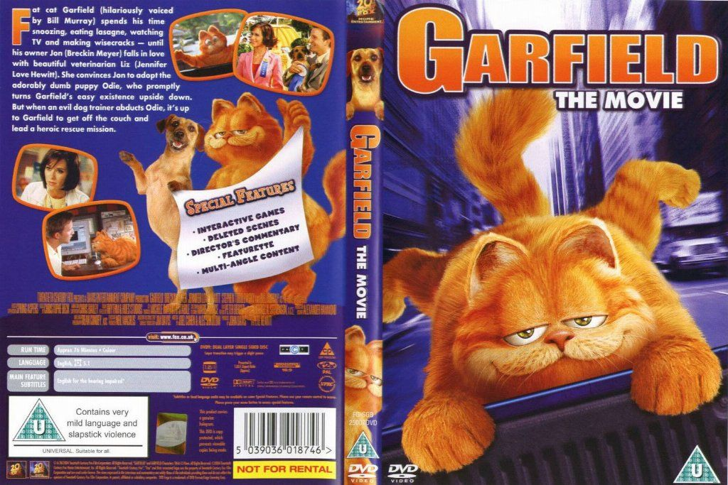Garfield The Movie Dvd Us Dvd Covers Cover Century Over 500 000 Album Art Covers For Free