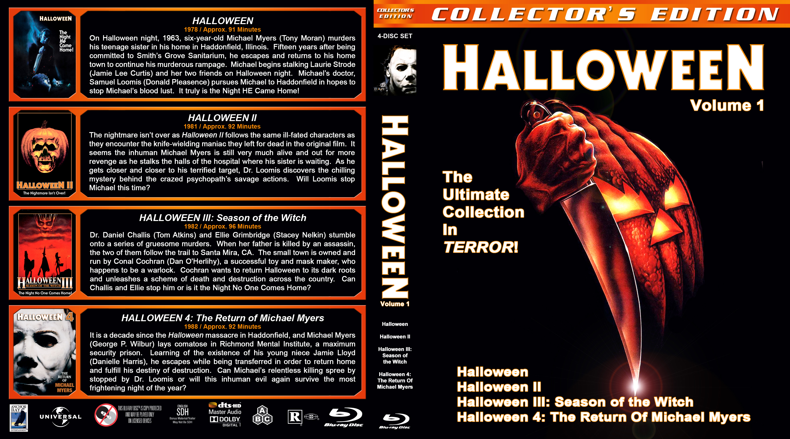 halloween 1 4 br | dvd covers | cover century | over 500.000 album