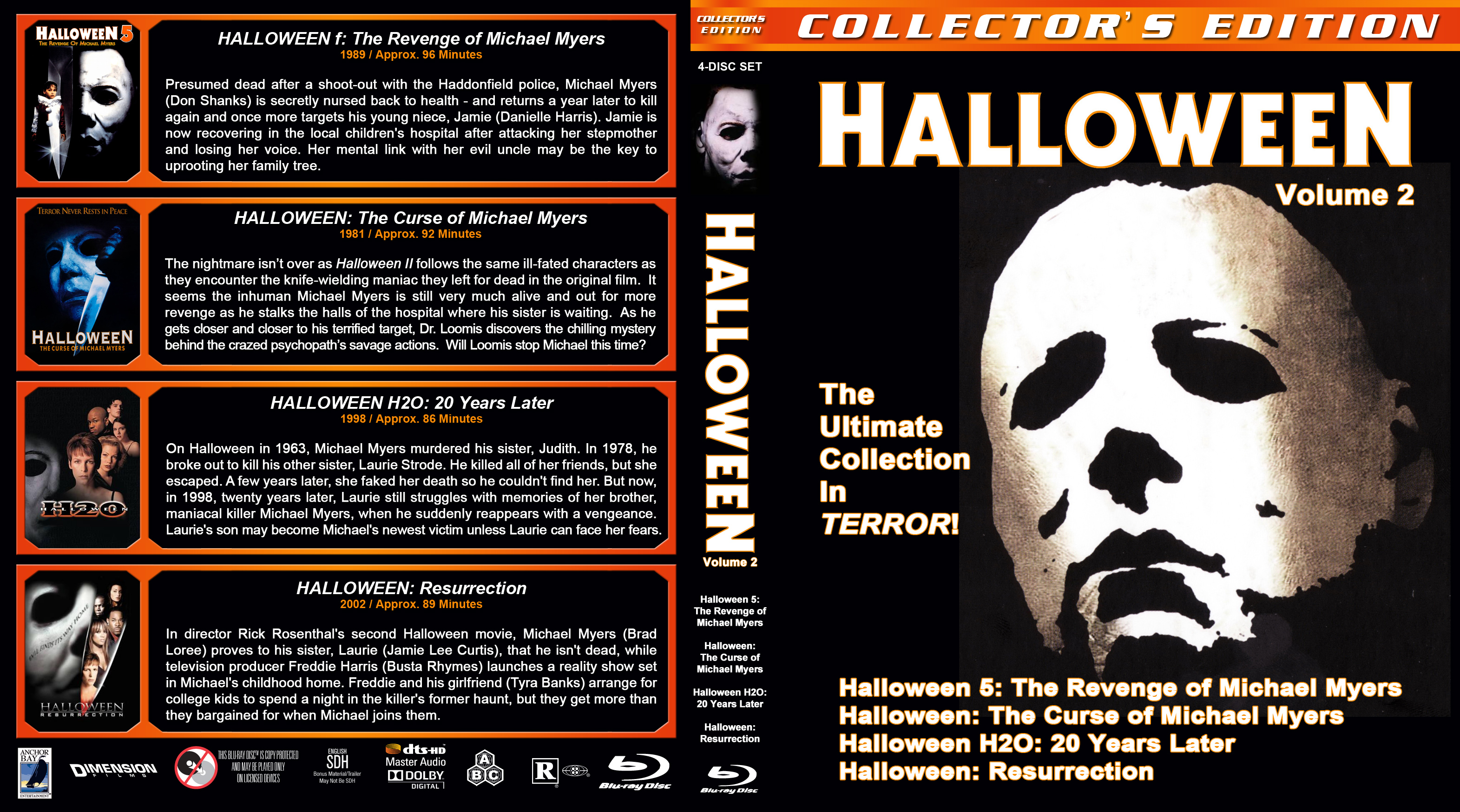 Halloween 5 Blu Ray.Halloween 5 8 Br Dvd Covers Cover Century Over 500 000 Album