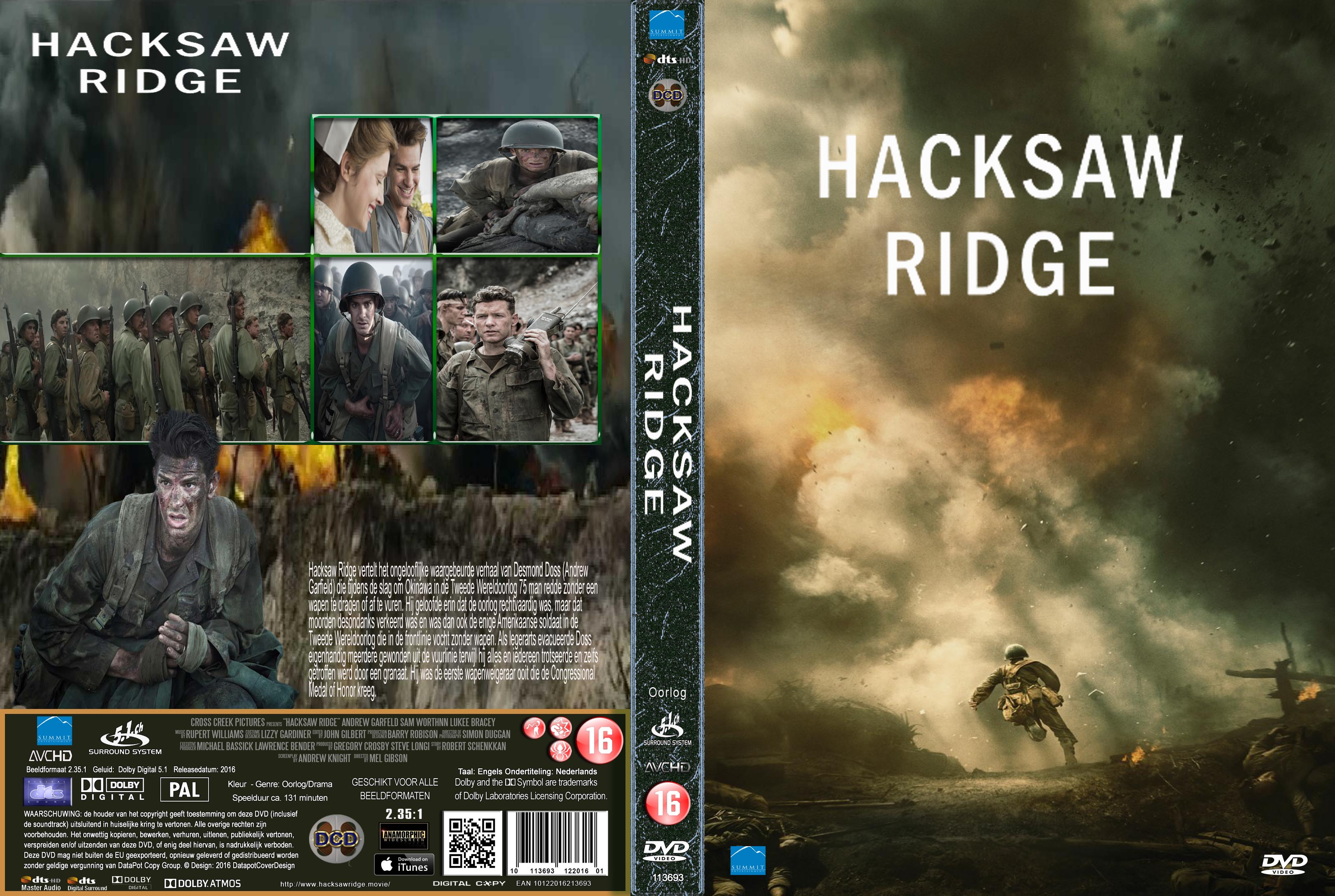 Hacksaw Ridge 2016 Front Dvd Covers Cover Century Over 500 000 Album Art Covers For Free