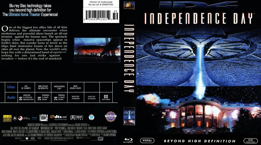 Independence Day R1 Custom cdcovers cc front | DVD Covers
