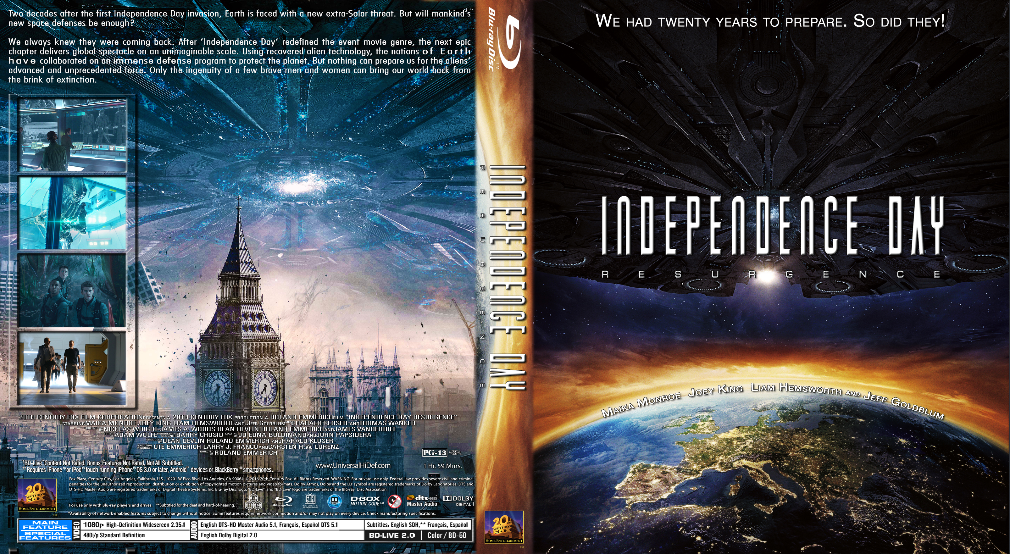 Independence Day Resurgence 2016 Front Dvd Covers Cover Century Over 500 000 Album Art Covers For Free