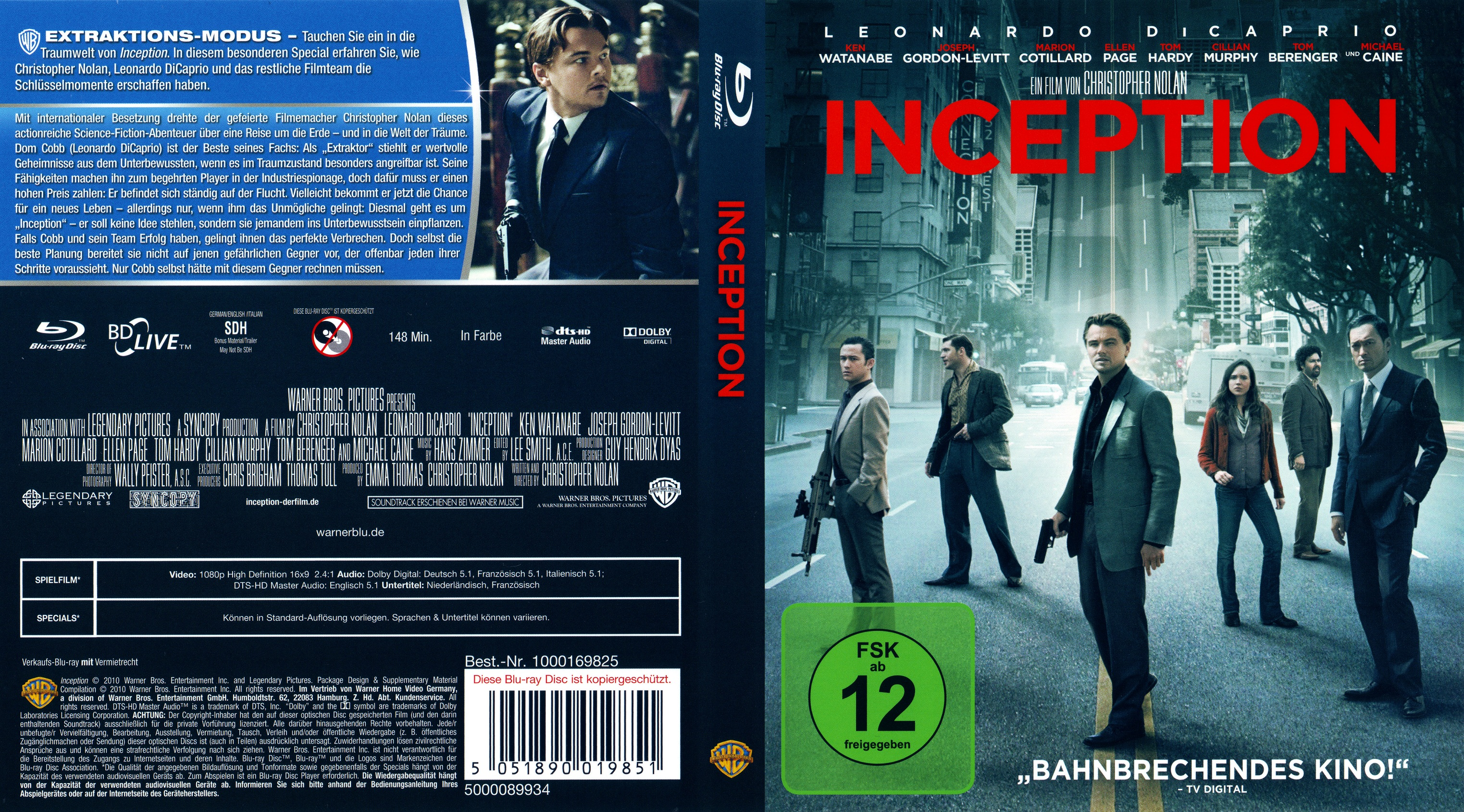 Inception Dvd Cover Art inception versi...