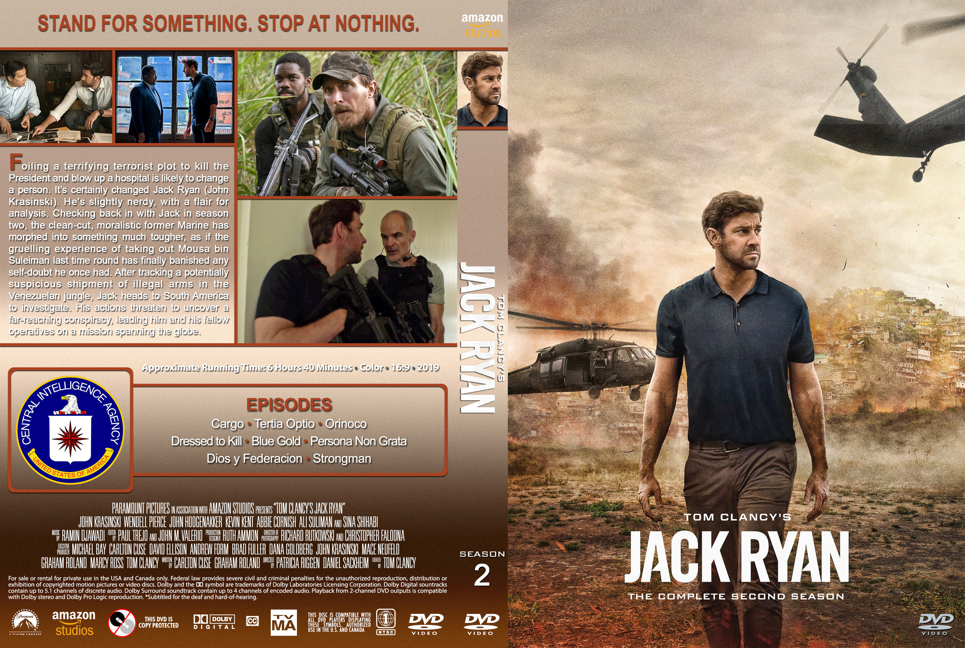 Jack Ryan Season 2 (2019) : Front | DVD Covers | Cover