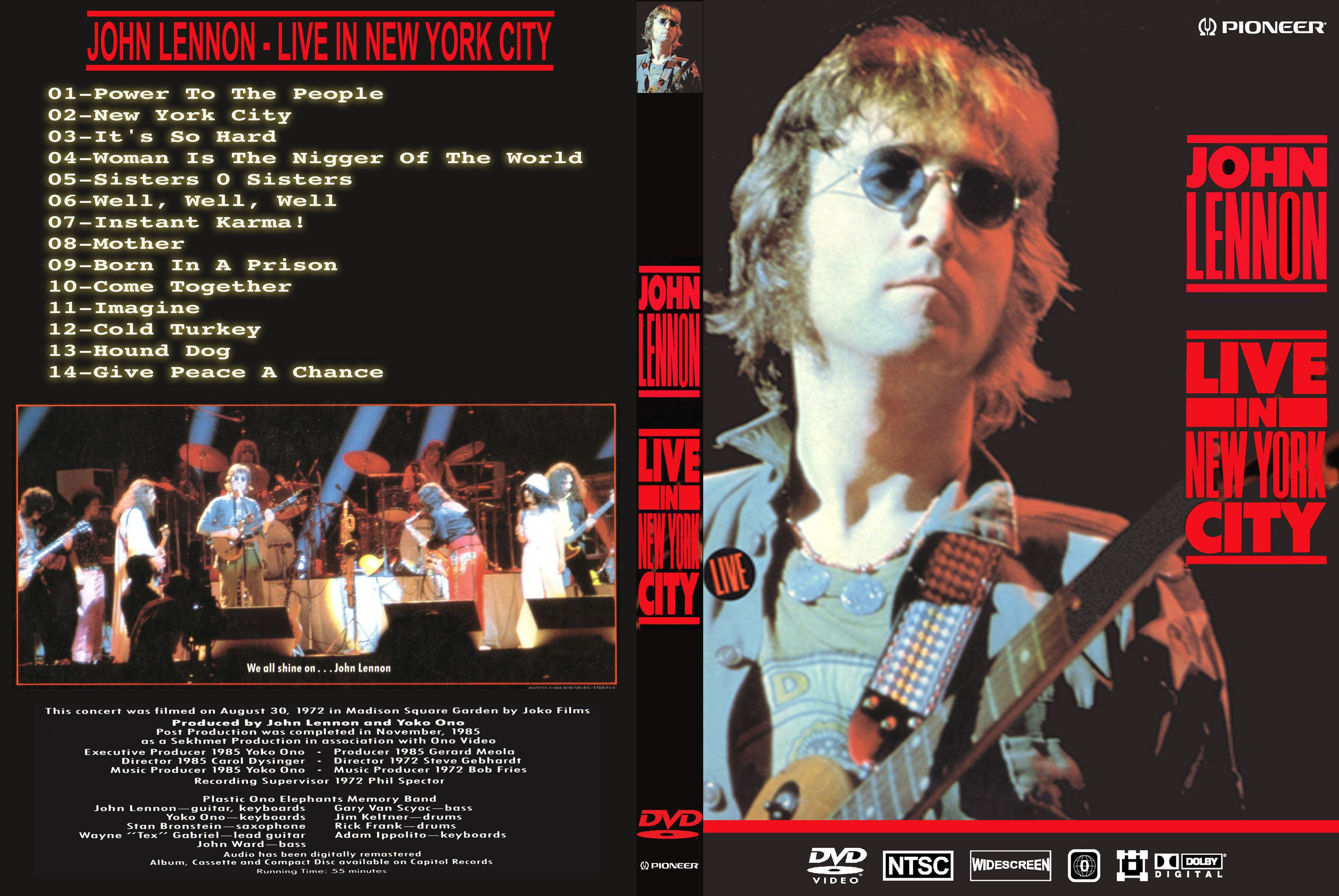 John Lennon Live In New York Dvd Us Dvd Covers Cover Century Over 500 000 Album Art Covers For Free