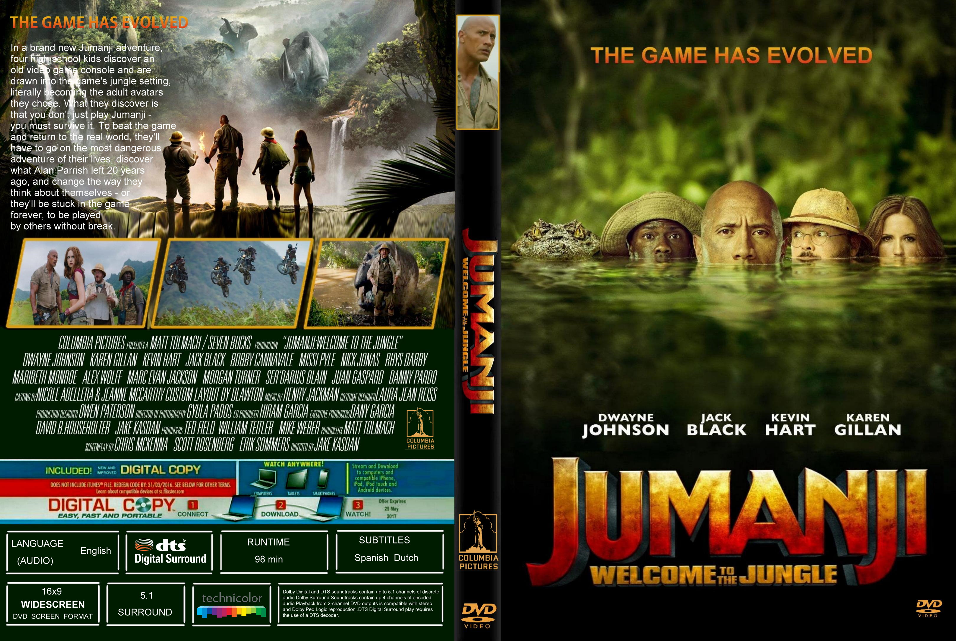 Jumanji Welcome To The Jungle 2017 Front Dvd Covers Cover Century Over 500 000 Album Art Covers For Free