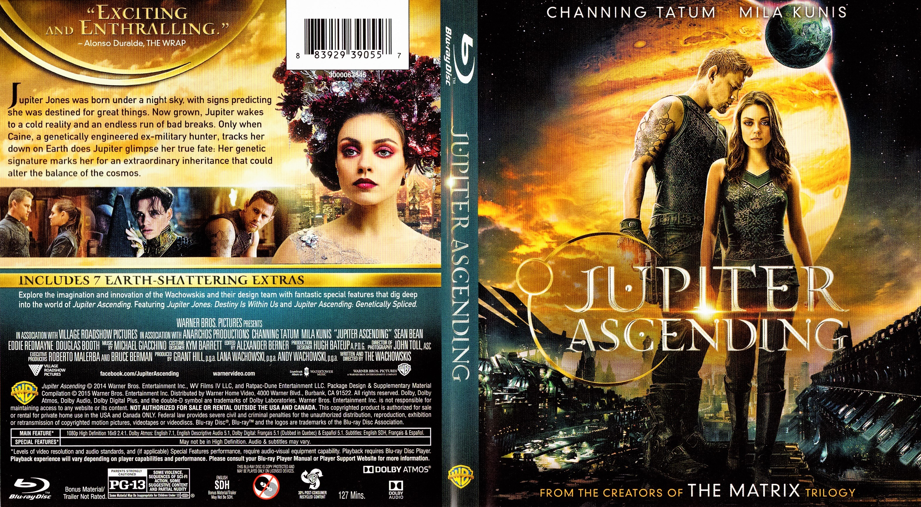 Jupiter Ascending 2015 R1 Blu Ray Dvd Covers Cover Century Over 500 000 Album Art Covers For Free