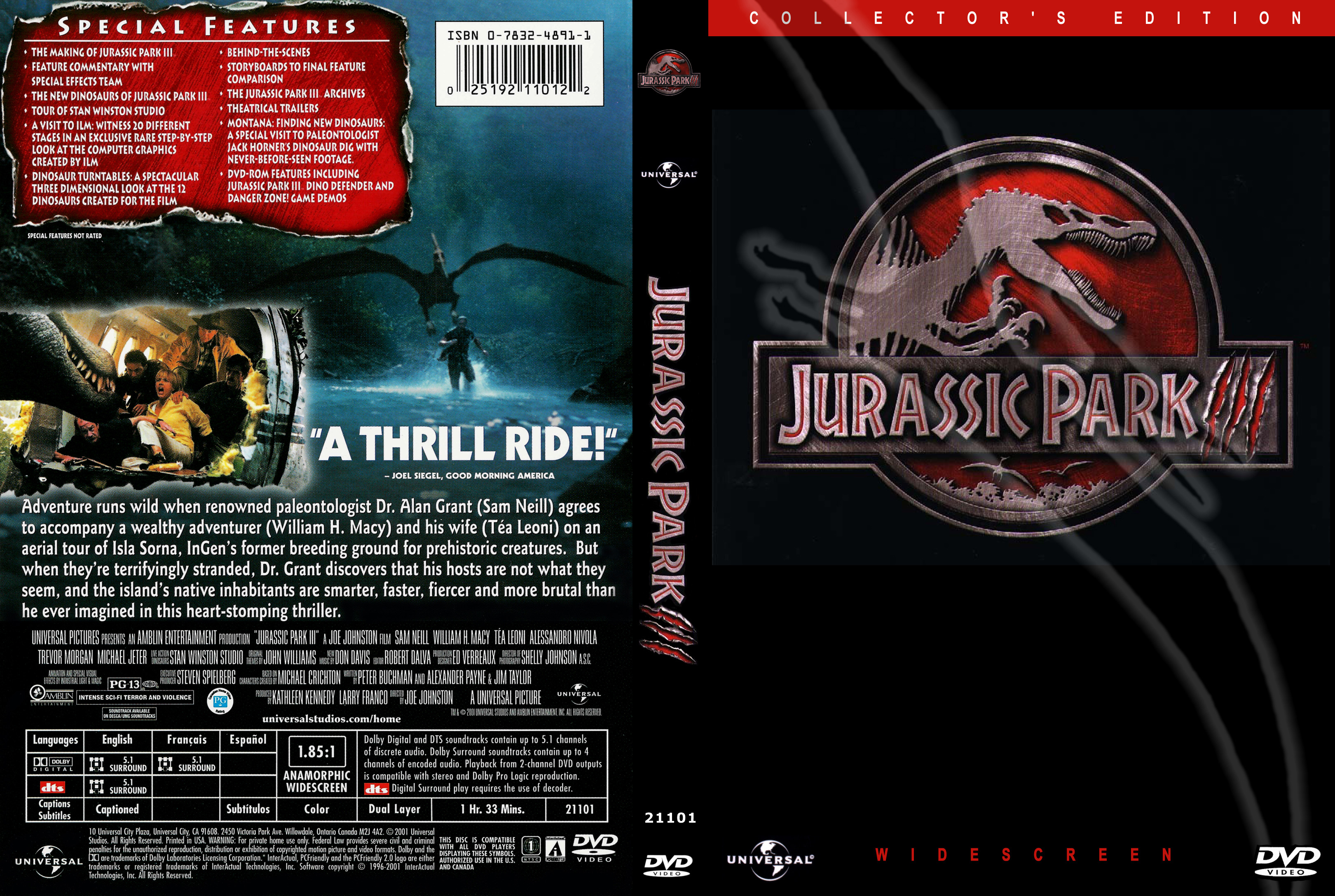 Jurassic Park III | DVD Covers | Cover Century | Over