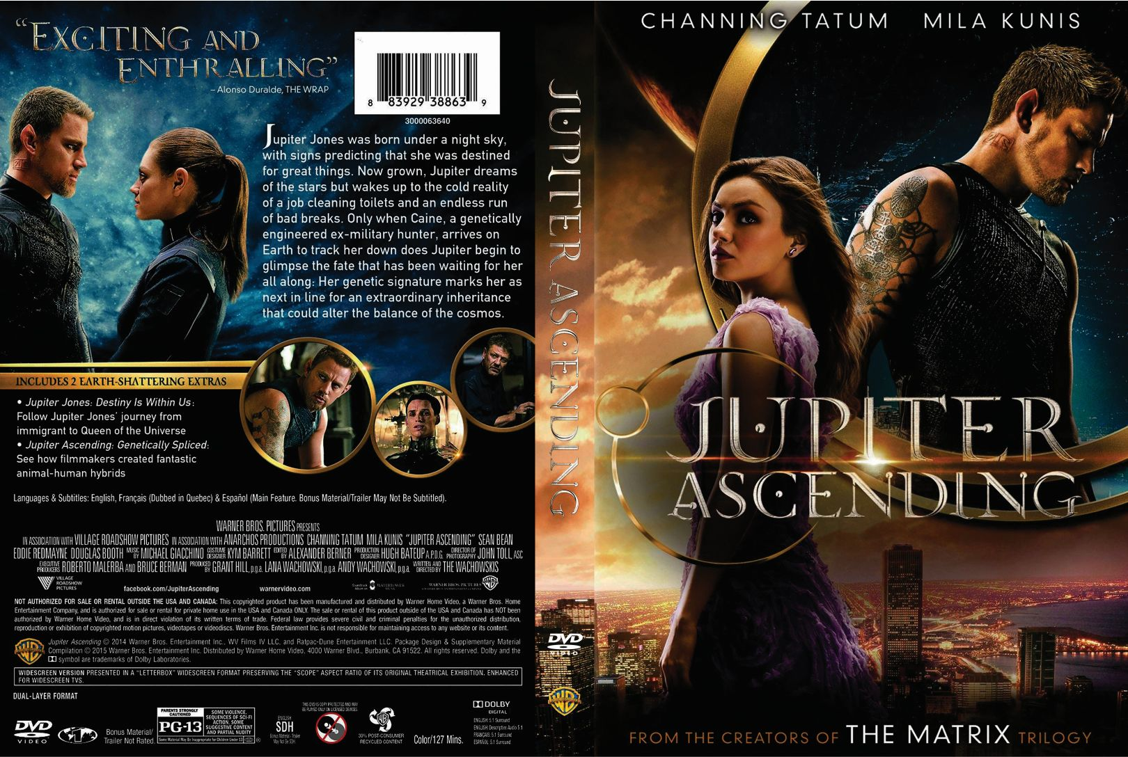 Jupiter Ascending 2015 Front Dvd Covers Cover Century Over 500 000 Album Art Covers For Free