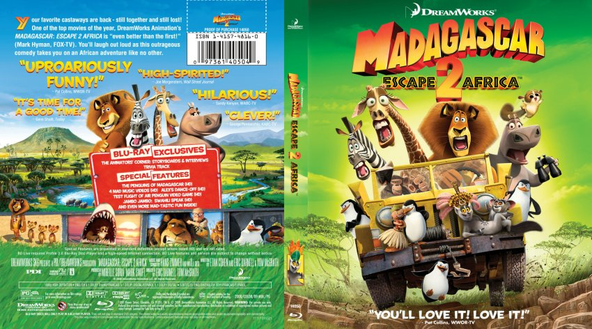 Madagascar 2 bd | DVD Covers | Cover Century | Over 500 000