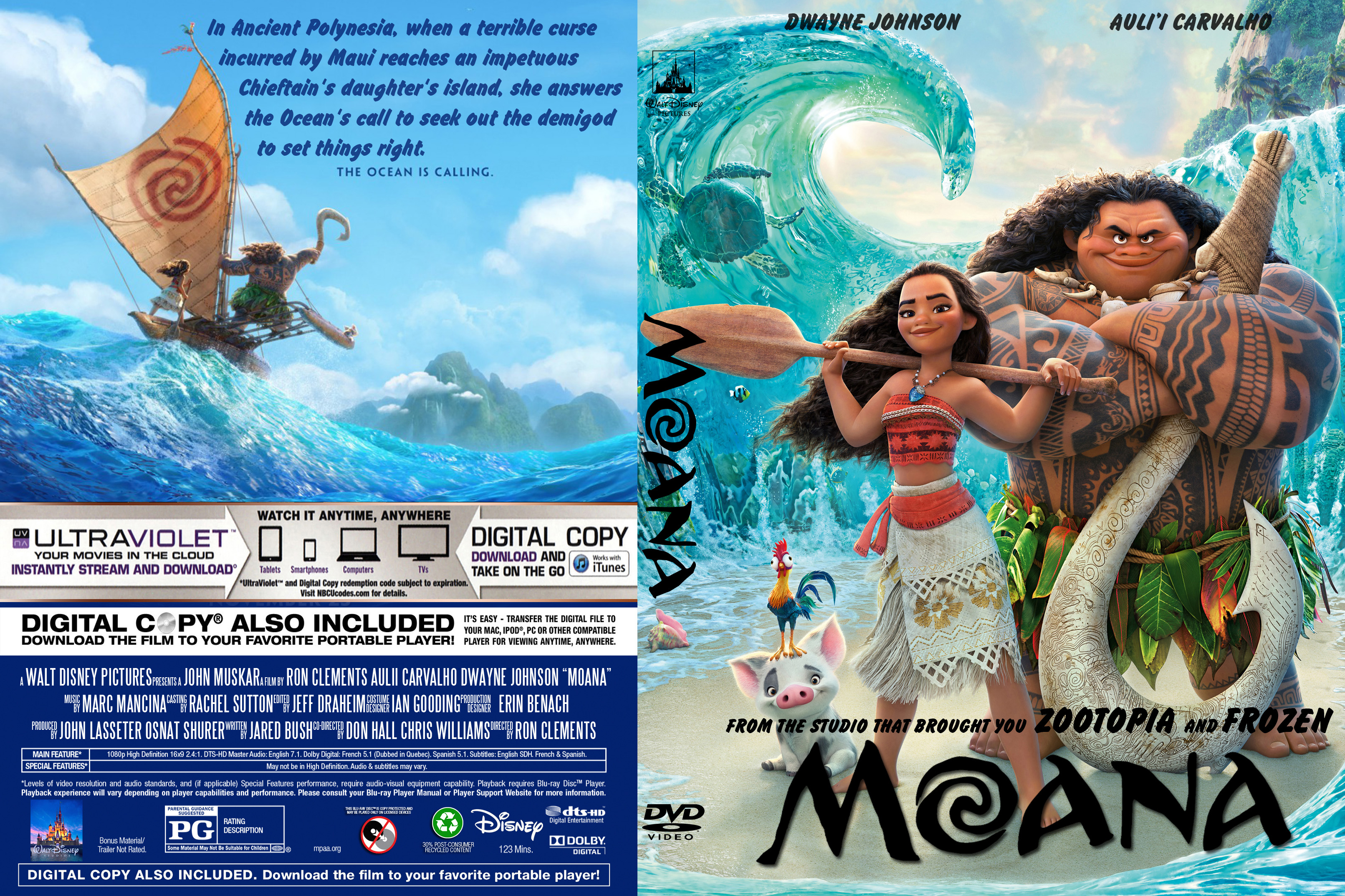 Moana (2017) : Front | DVD Covers | Cover Century | Over ...