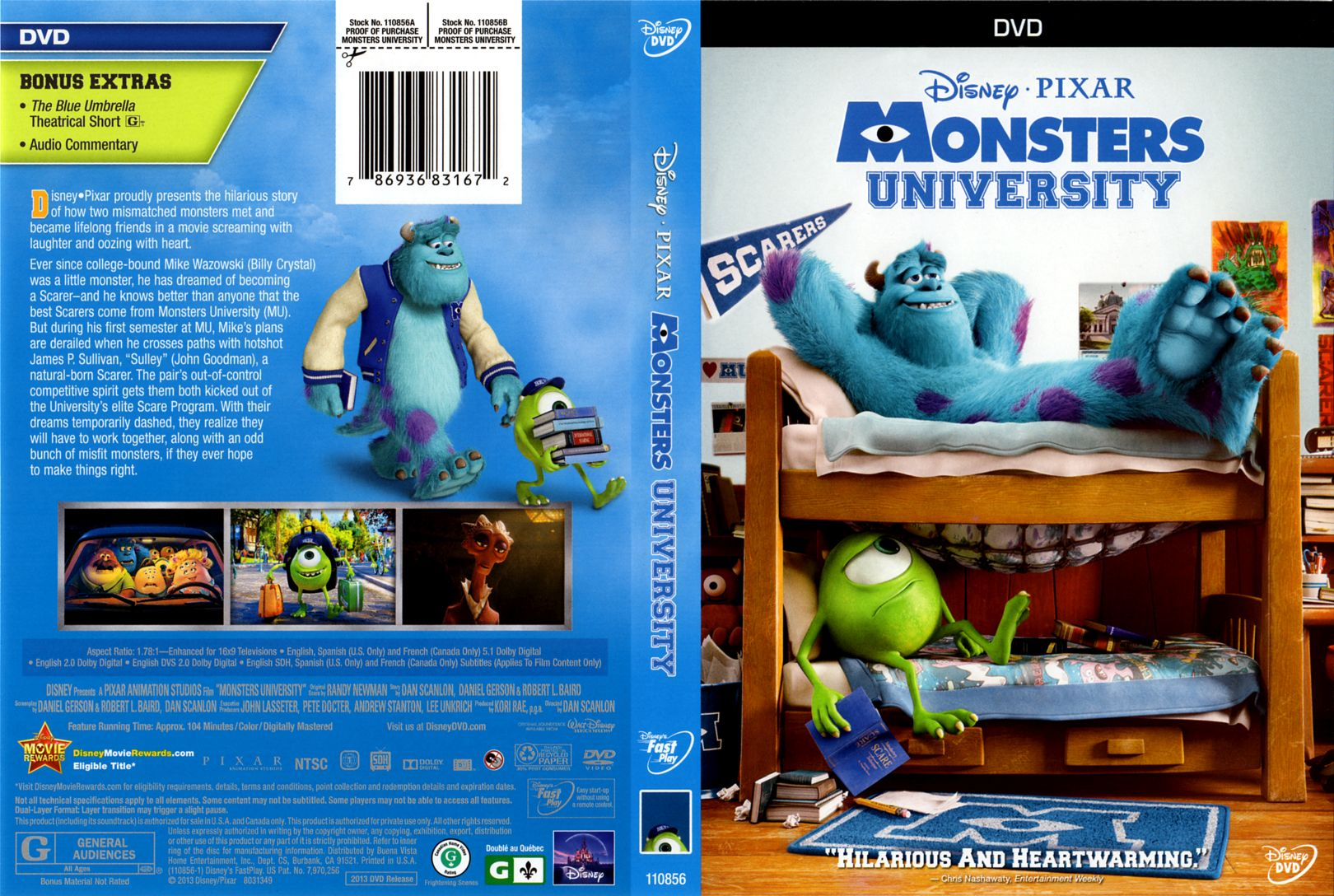 Monsters University front | DVD Covers | Cover Century ...