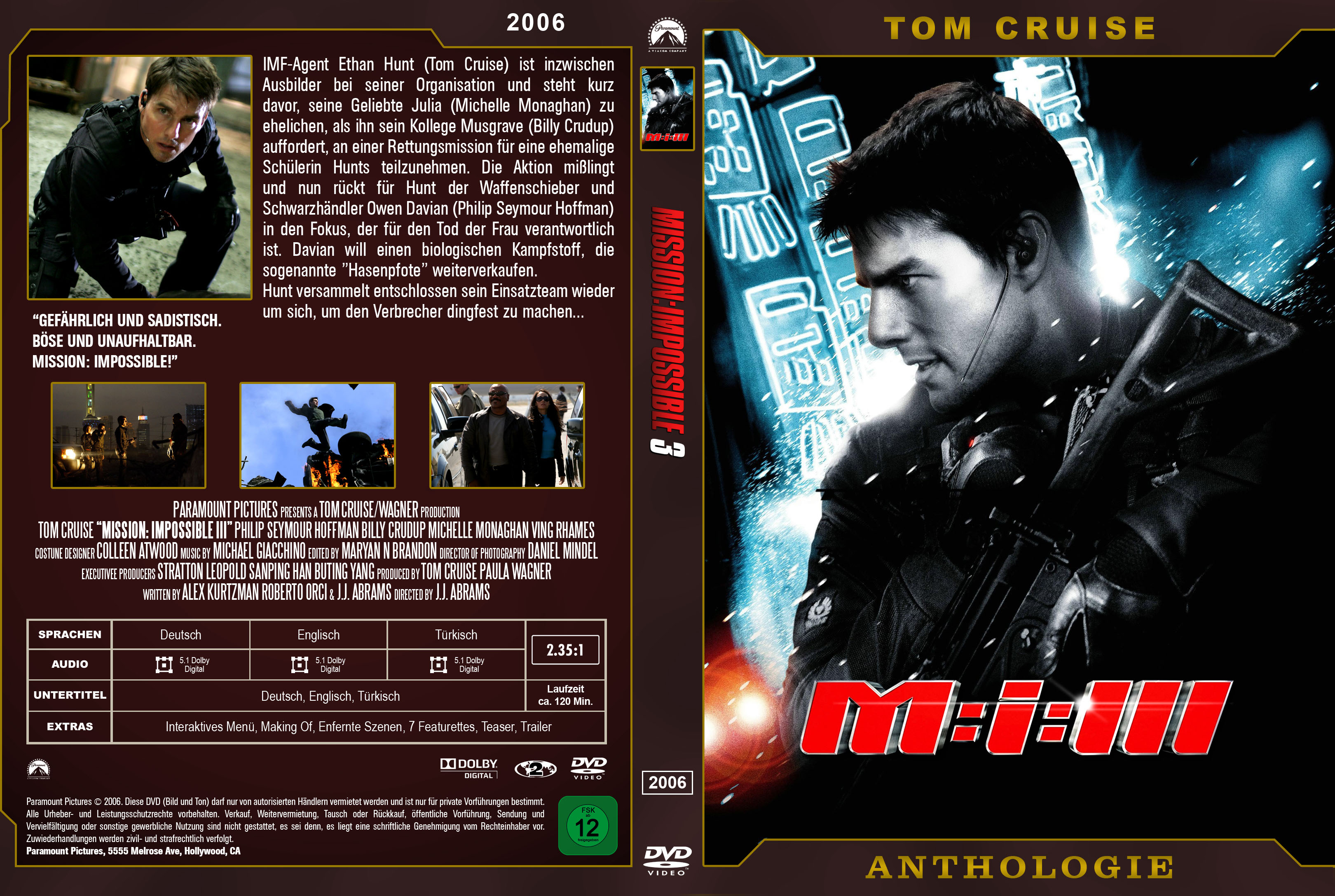 mission impossible 3 cover | DVD Covers | Cover Century | Over