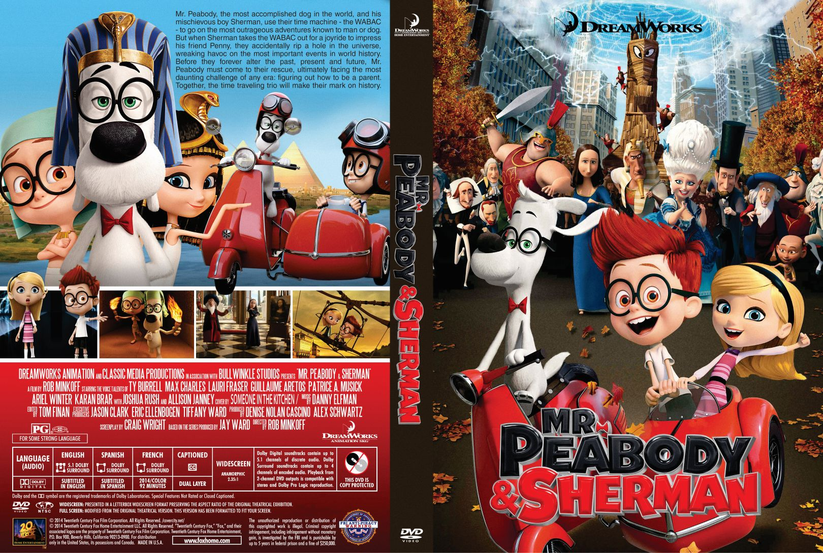 mr peabody sherman 2014 custom front | DVD Covers | Cover