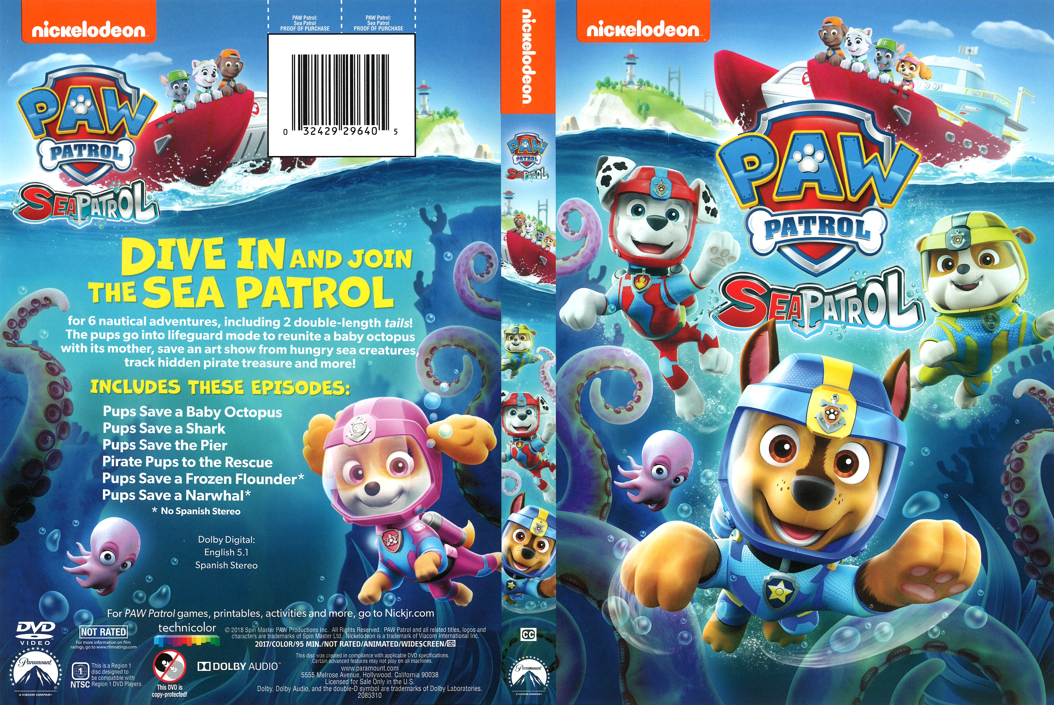 paw patrol sea patrol 2018  front  dvd covers  cover