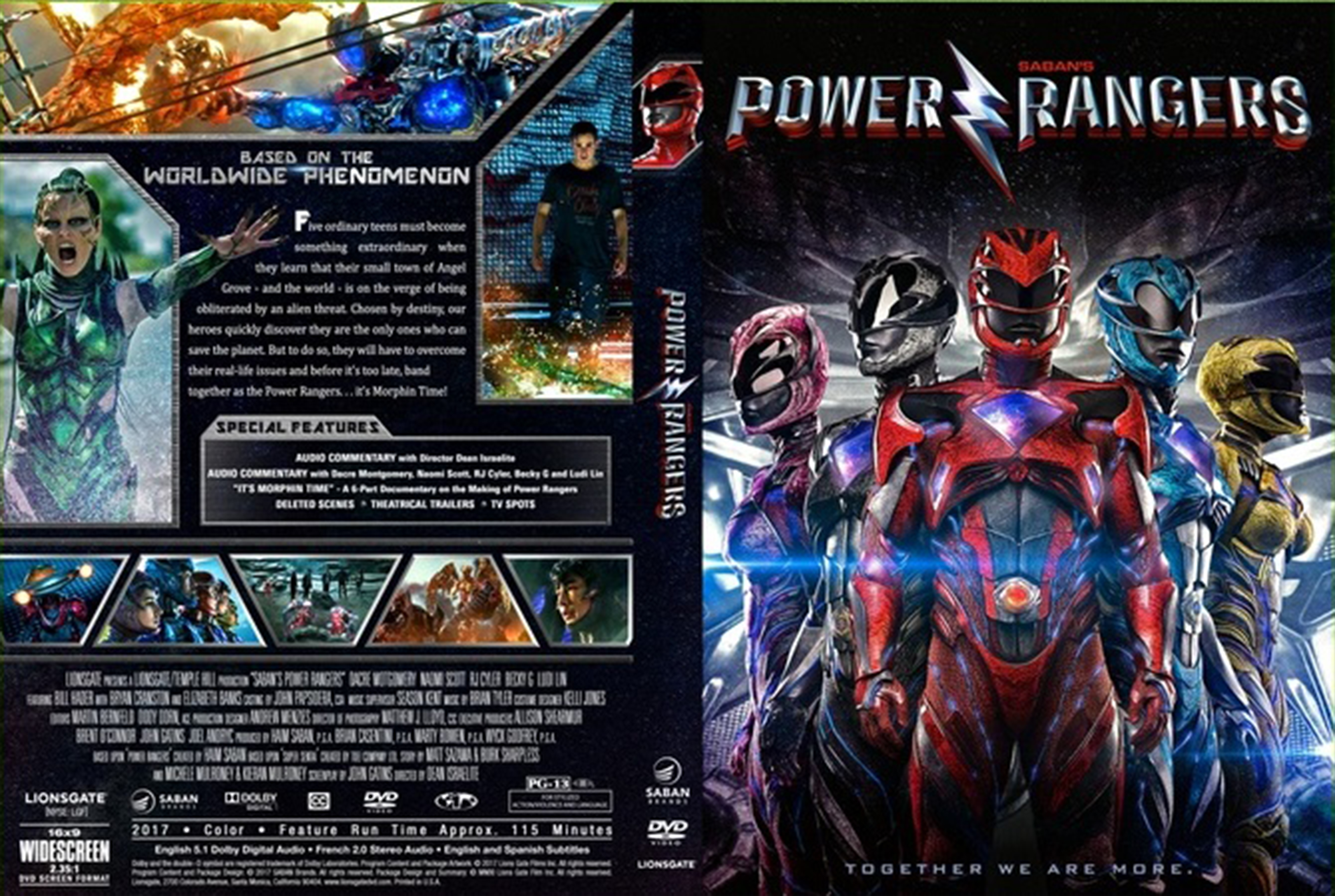 power rangers 2017 front dvd covers cover century. Black Bedroom Furniture Sets. Home Design Ideas