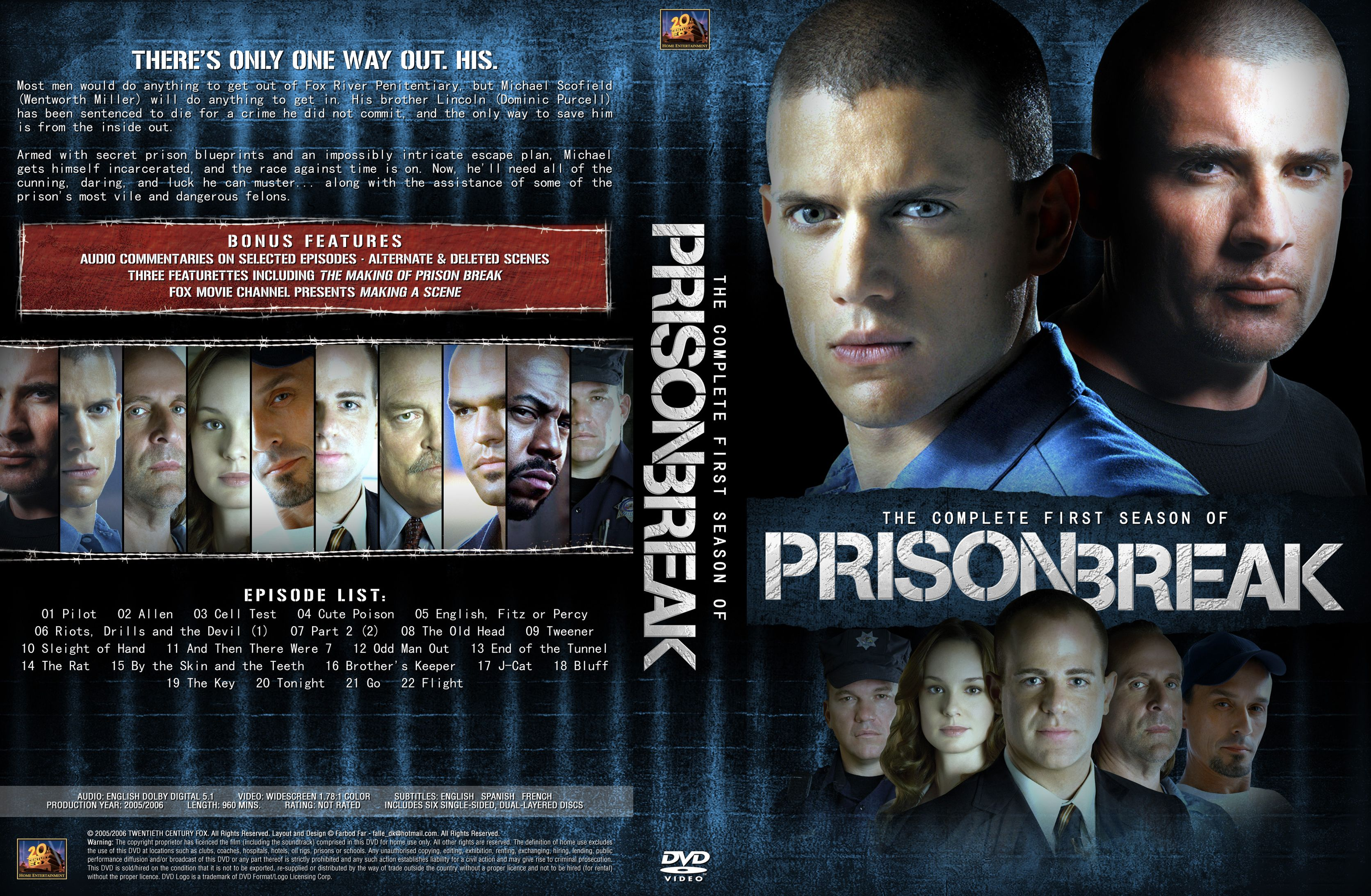 Prison Break Season 01 Dvd Us1 Dvd Covers Cover Century Over 500 000 Album Art Covers For Free