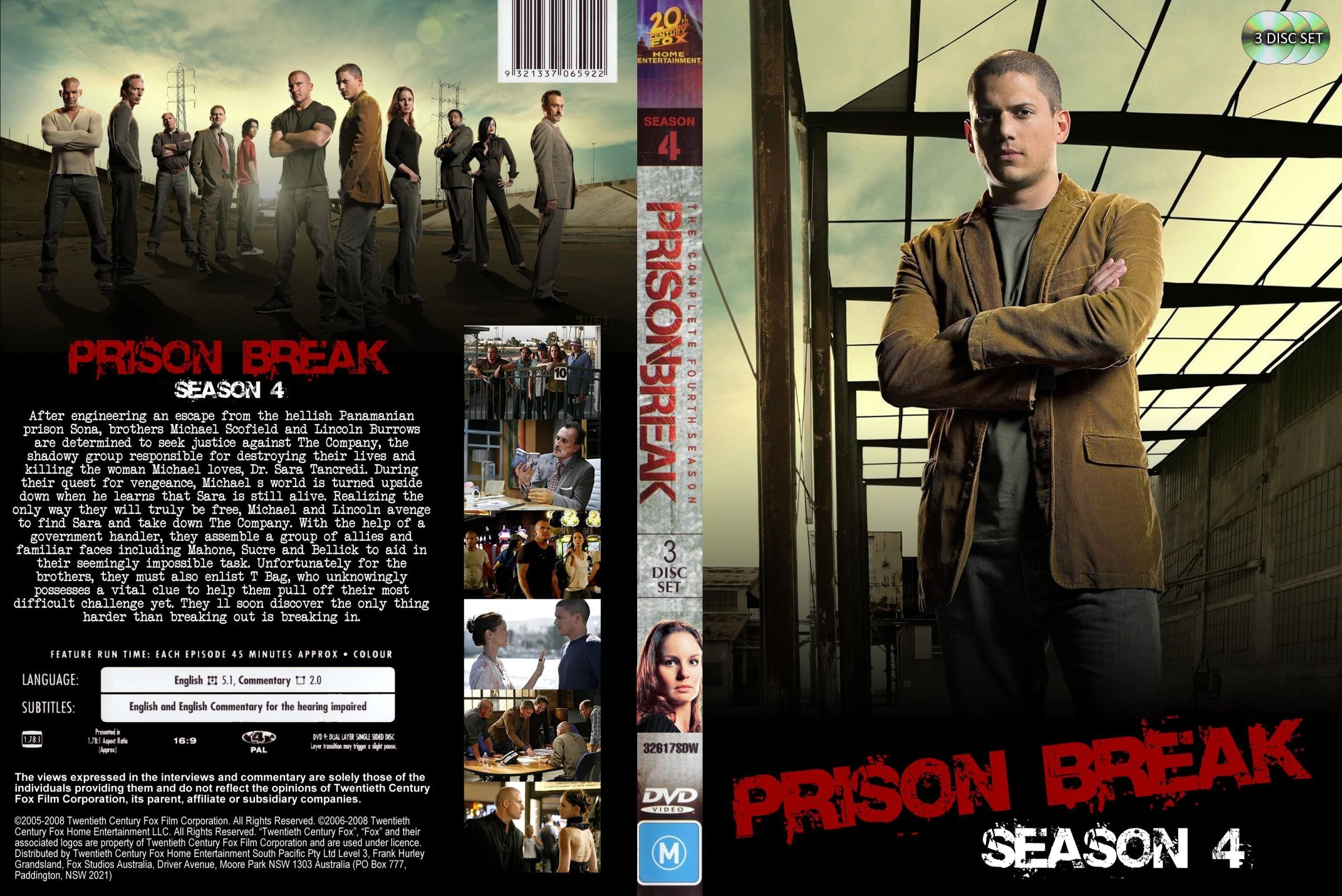 Prison Break Season 04 Dvd Us Custom Dvd Covers Cover Century Over 500 000 Album Art Covers For Free