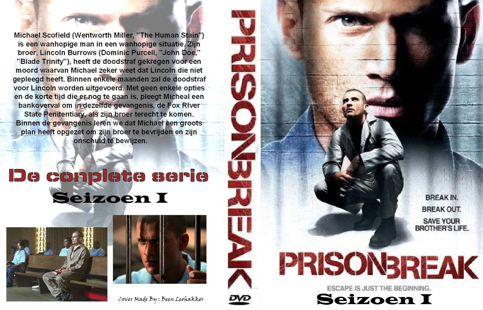 Prison Break Season 1 Dvd Nl Custom Dvd Covers Cover Century Over 500 000 Album Art Covers For Free