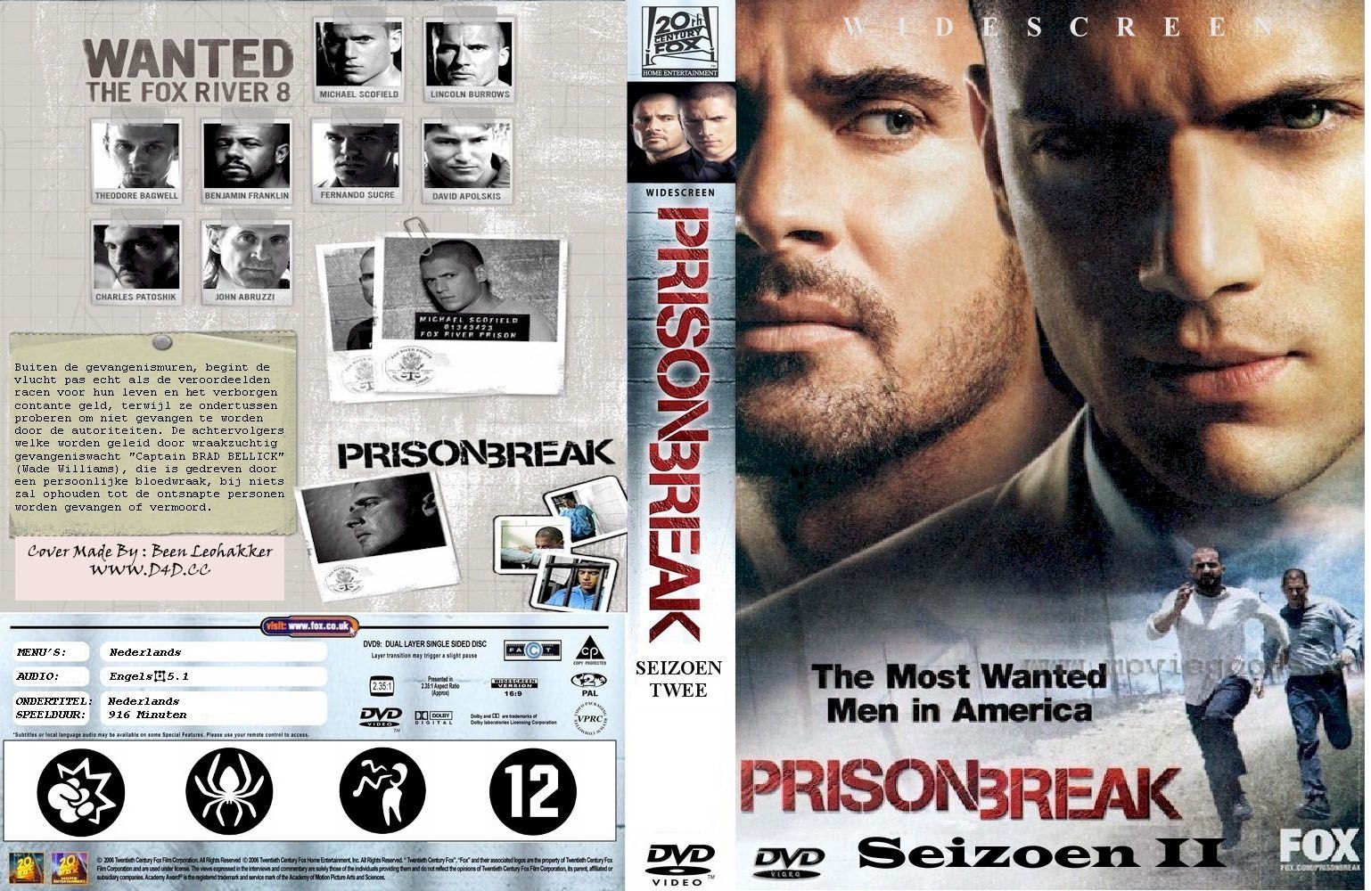 Prison Break Season 2 Dvd Nl Custom Dvd Covers Cover Century Over 500 000 Album Art Covers For Free