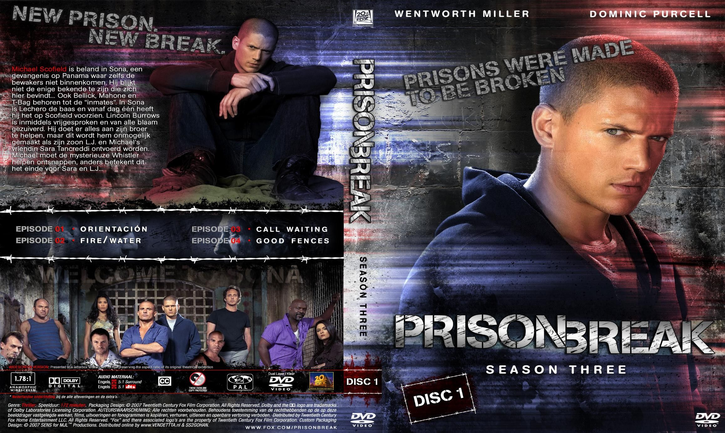 Prison Break Season 3 Dvd 01 Dvd Nl Dvd Covers Cover Century Over 500 000 Album Art Covers For Free