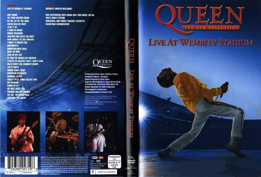 Queen Live At Wembley Stadium DVD NL | DVD Covers | Cover