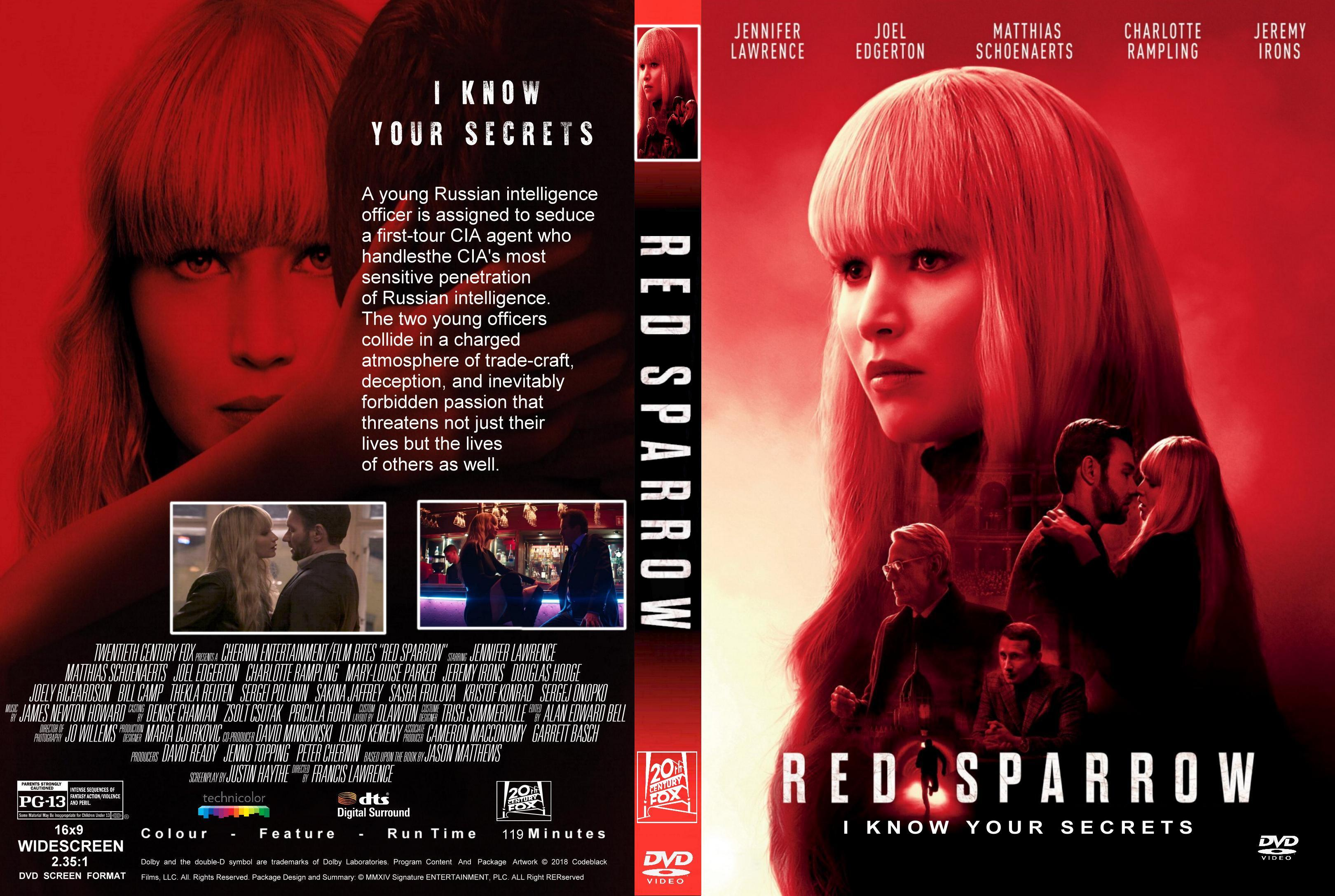Red Sparrow (2018) : Front   DVD Covers   Cover Century   Over 500.000  Album Art covers for free