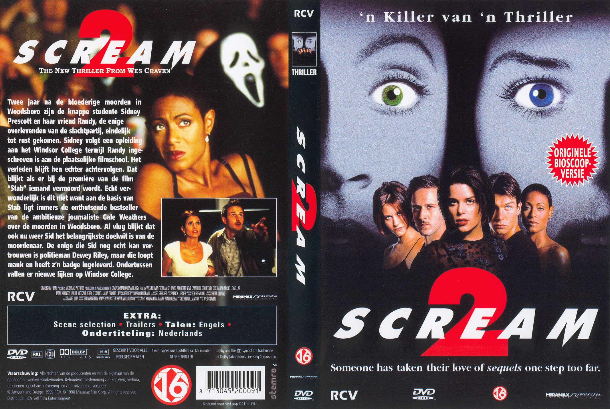 Scream 2 Pal Misc Dvd | DVD Covers | Cover Century | Over