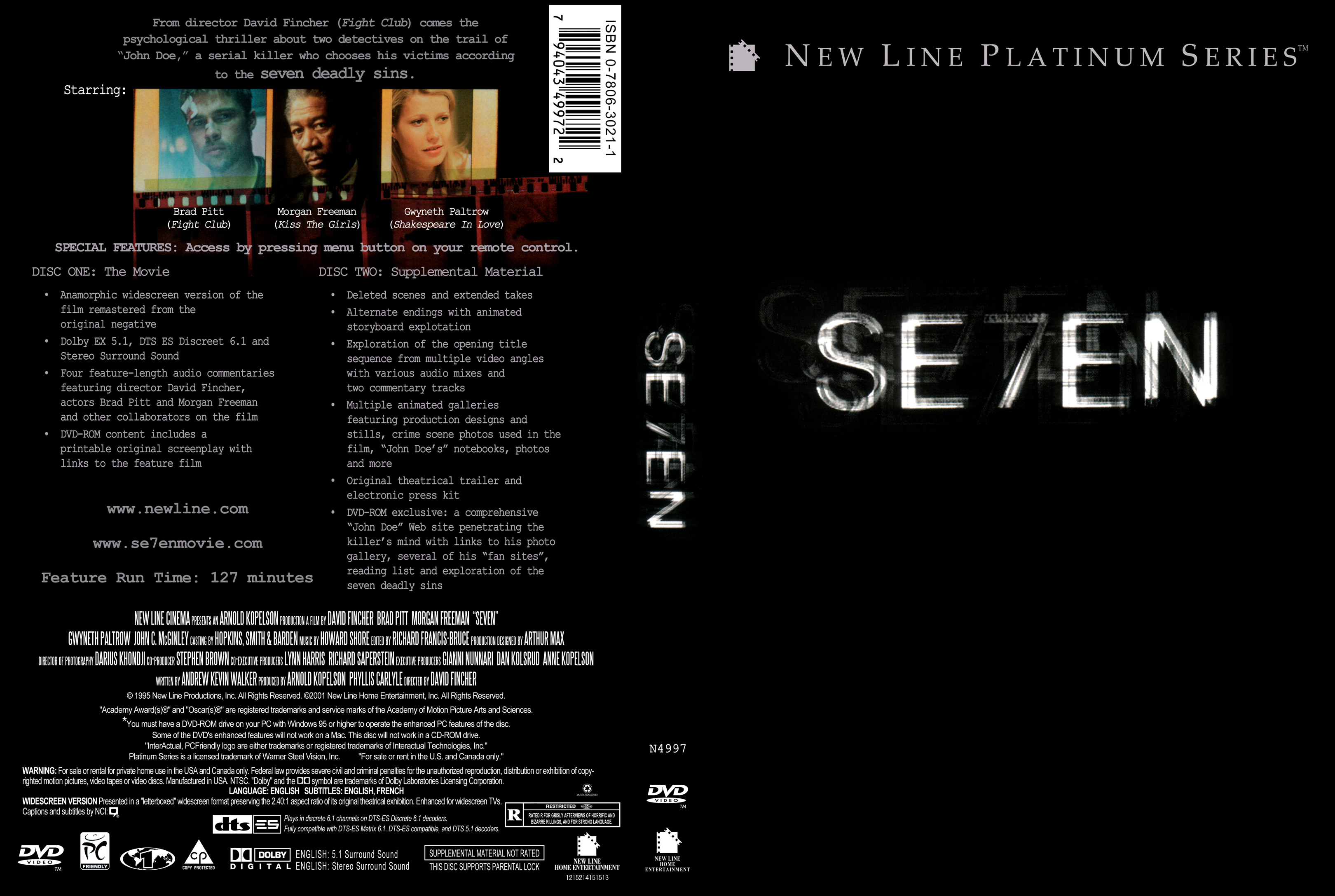 Se7en Dvd Covers Cover Century Over 500 000 Album Art Covers For Free