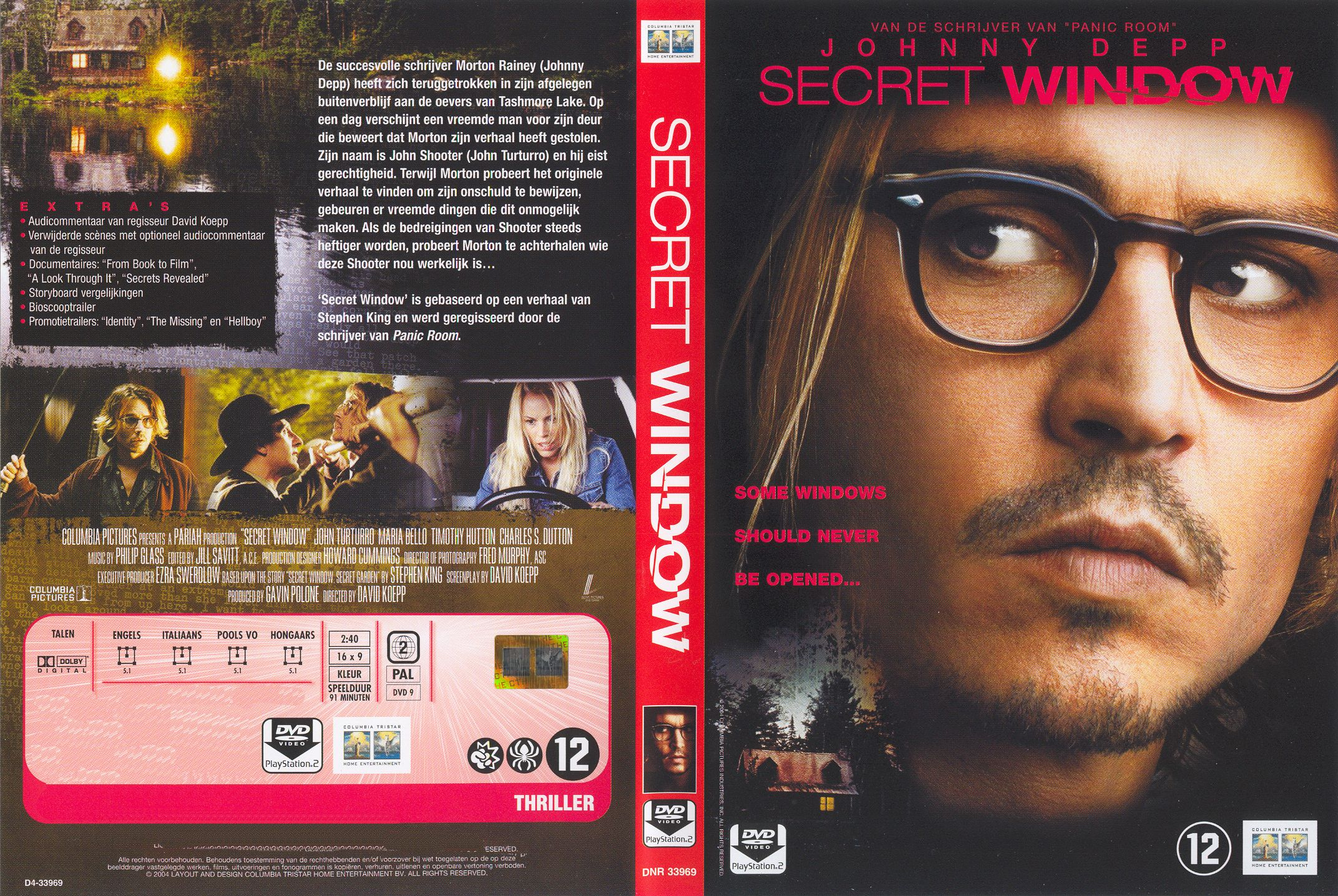 Secret Window Pal Misc Dvd Dvd Covers Cover Century Over