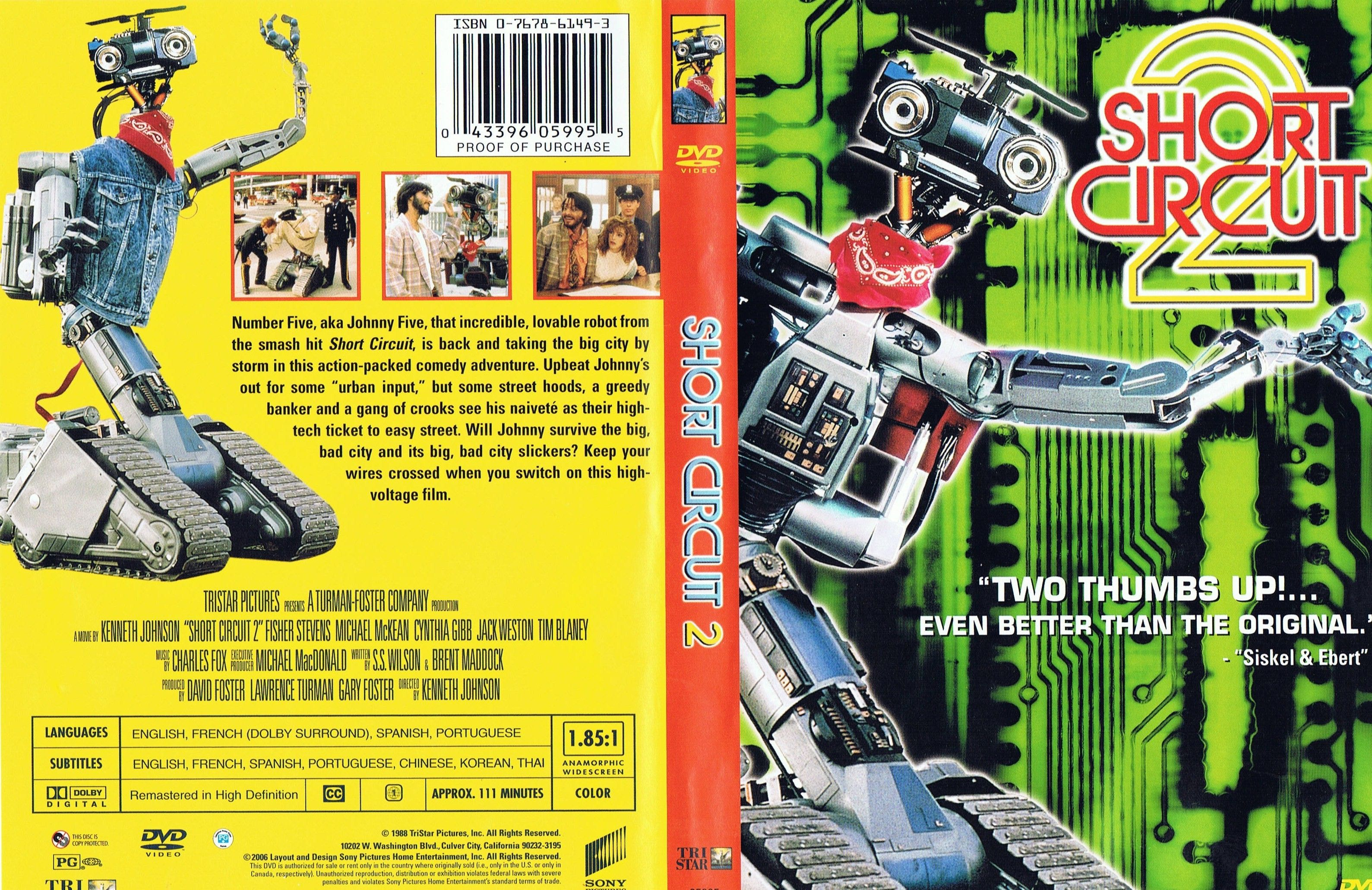 short circuit 2 dvd us dvd covers cover century over 500000