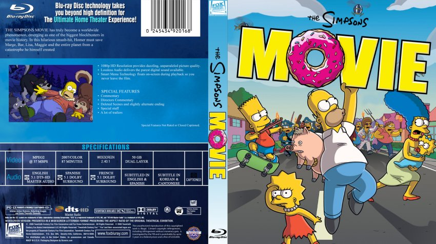 Simpsons Movie Custom Dvd Covers Cover Century Over 500 000 Album Art Covers For Free