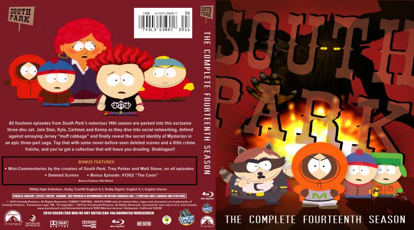South Park Season 14 Bd Dvd Covers Cover Century Over 500 000 Album Art Covers For Free
