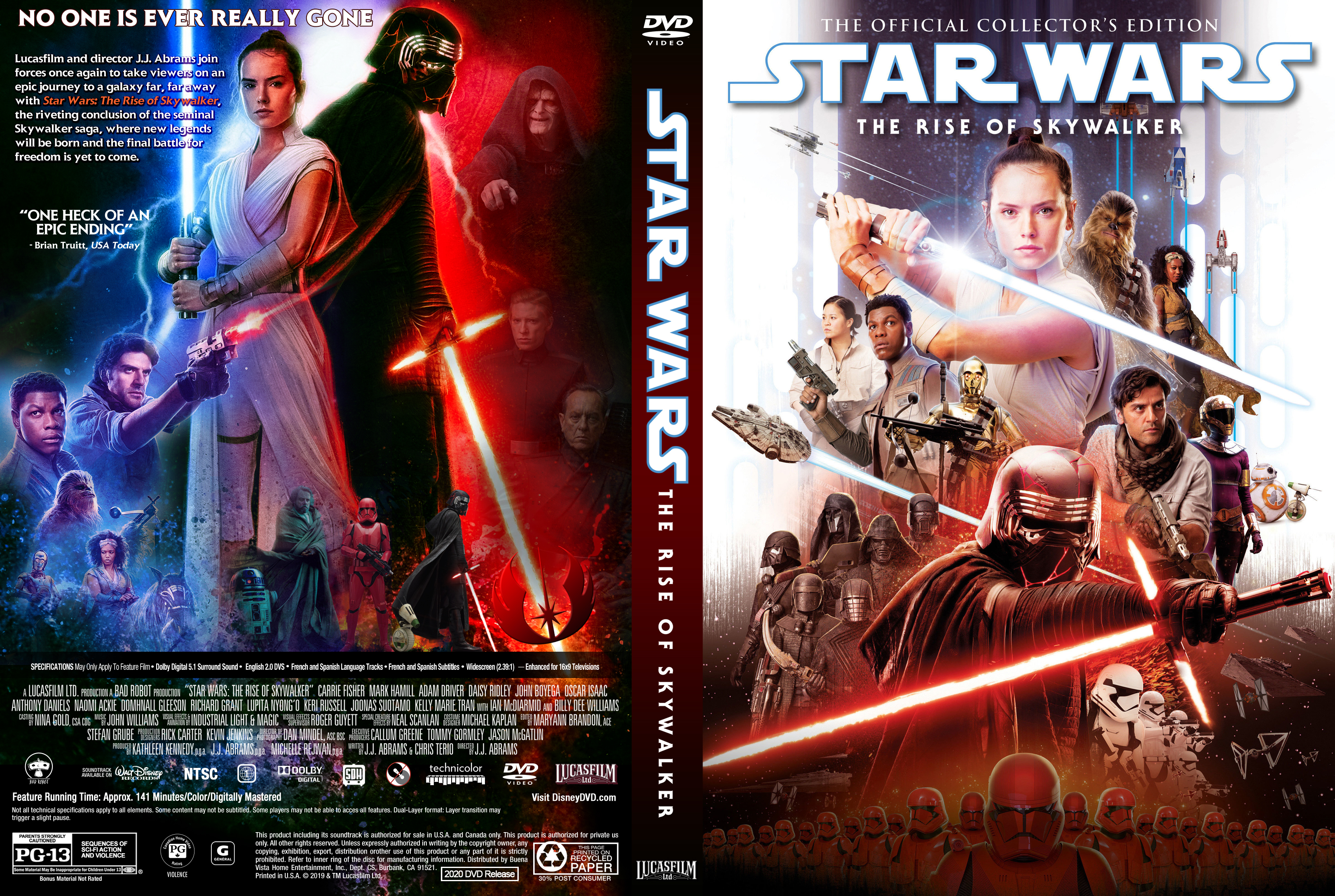 Star Wars The Rise Of Skywalker Front Dvd Covers Cover Century Over 500 000 Album Art Covers For Free