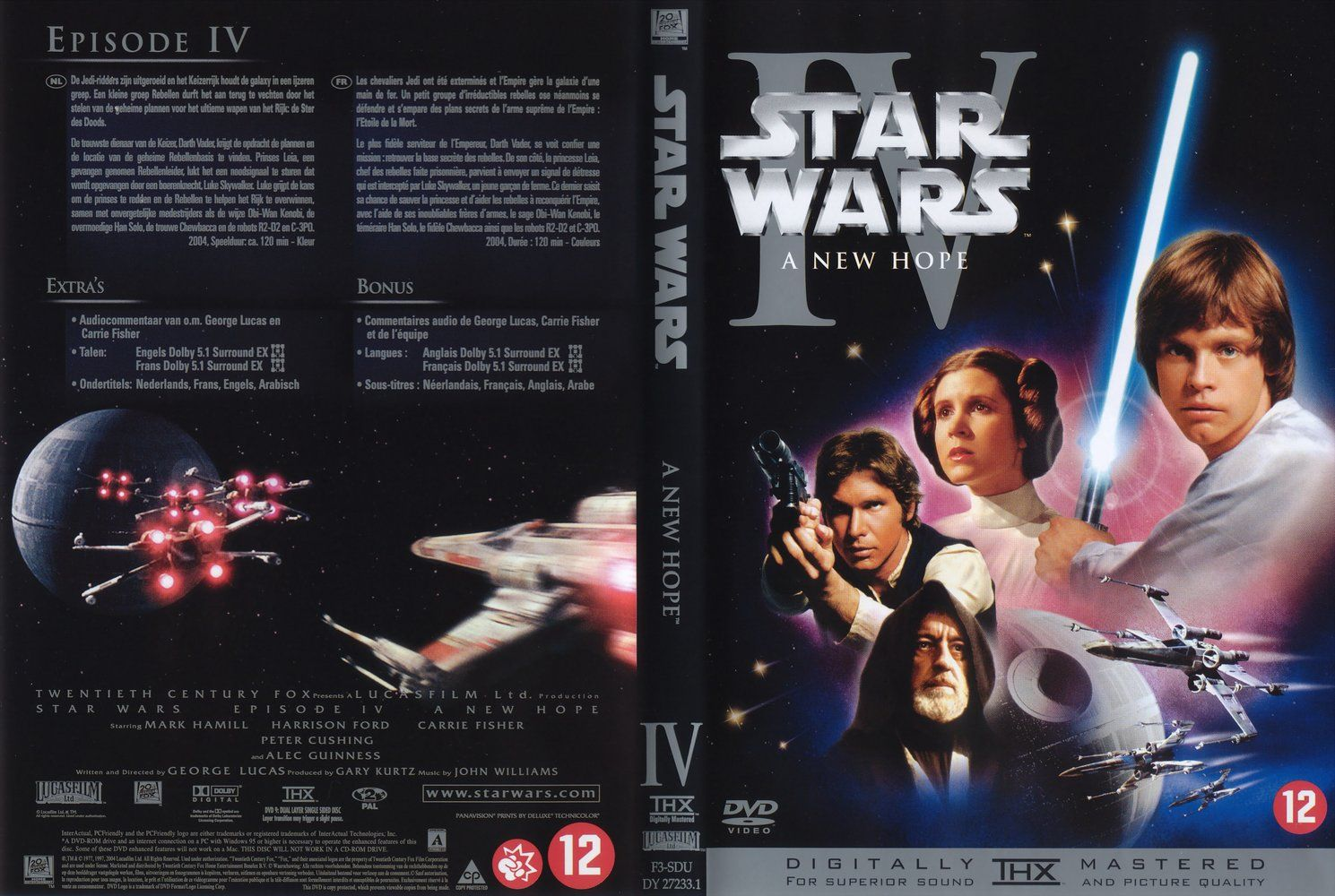 Star Wars Episode 4 A New Hope Dutch Front Misc Dvd Dvd Covers Cover Century Over 500 000 Album Art Covers For Free