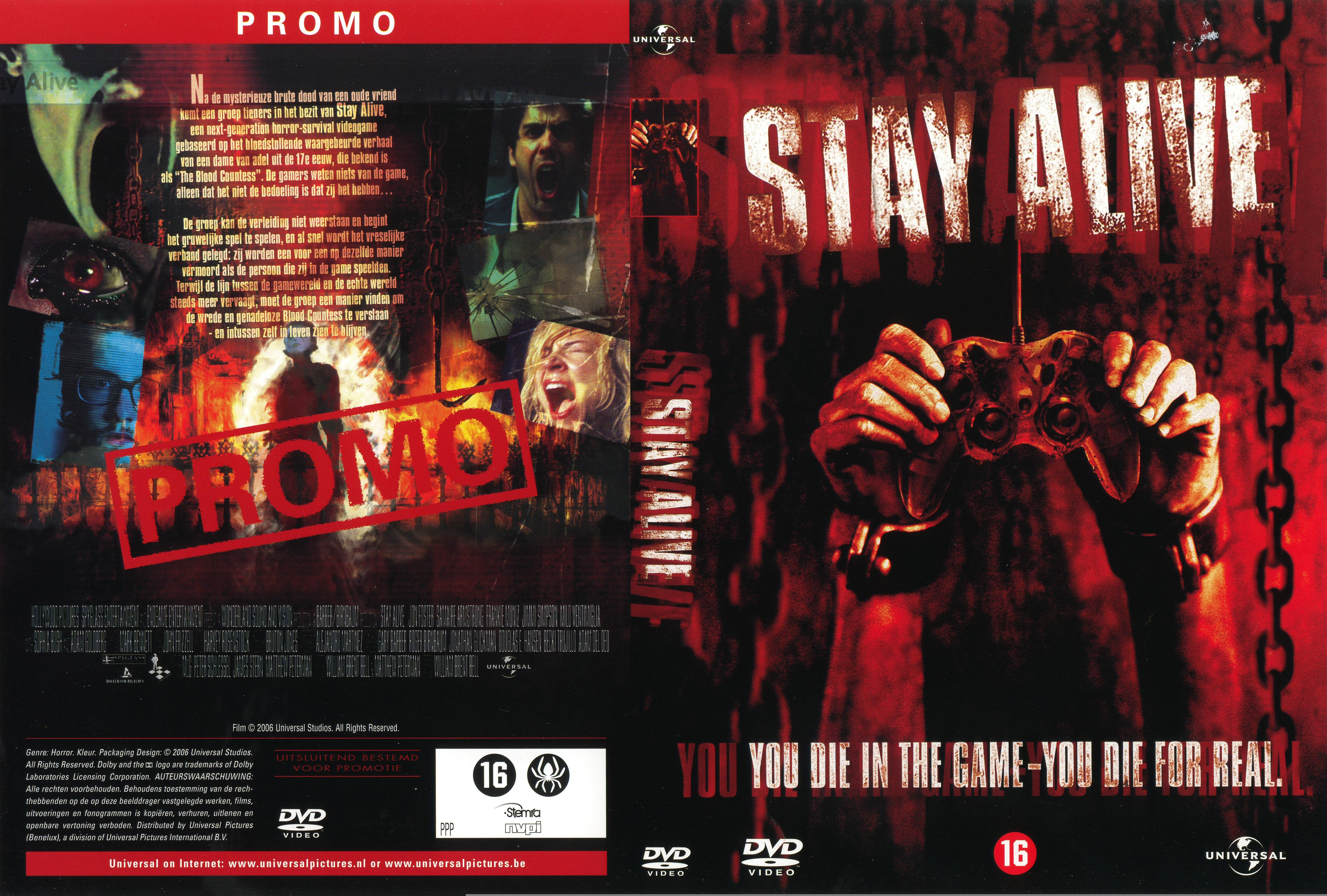 Stay Alive Dvd Nl Custom2 Dvd Covers Cover Century Over 500 000 Album Art Covers For Free