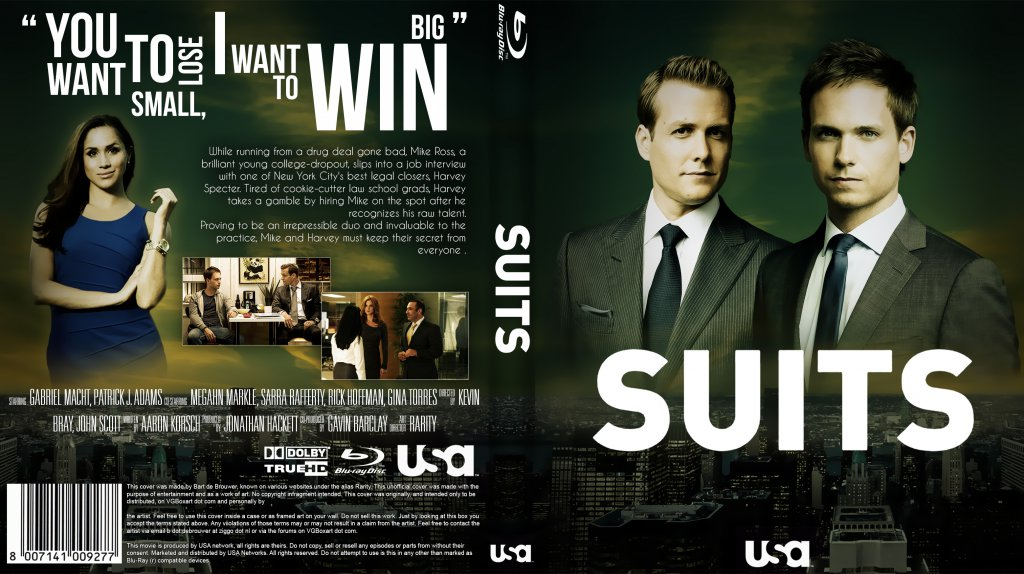 Suits Season 1 Custom Bluray | DVD Covers | Cover Century | Over