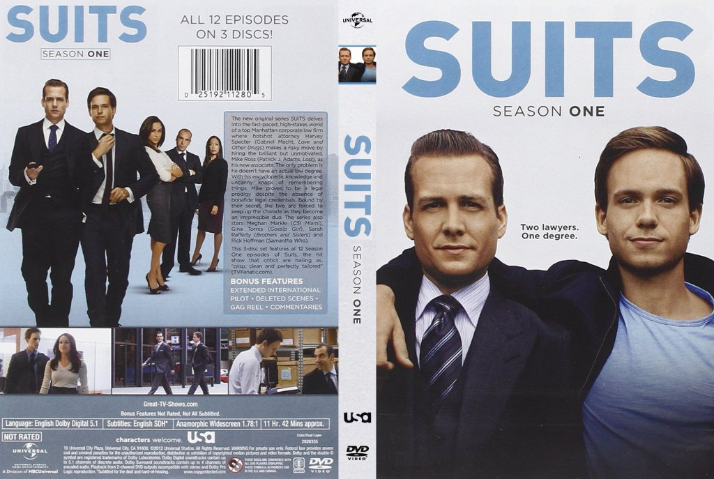 Suits Season 1 DVD | DVD Covers | Cover Century | Over 500 000 Album