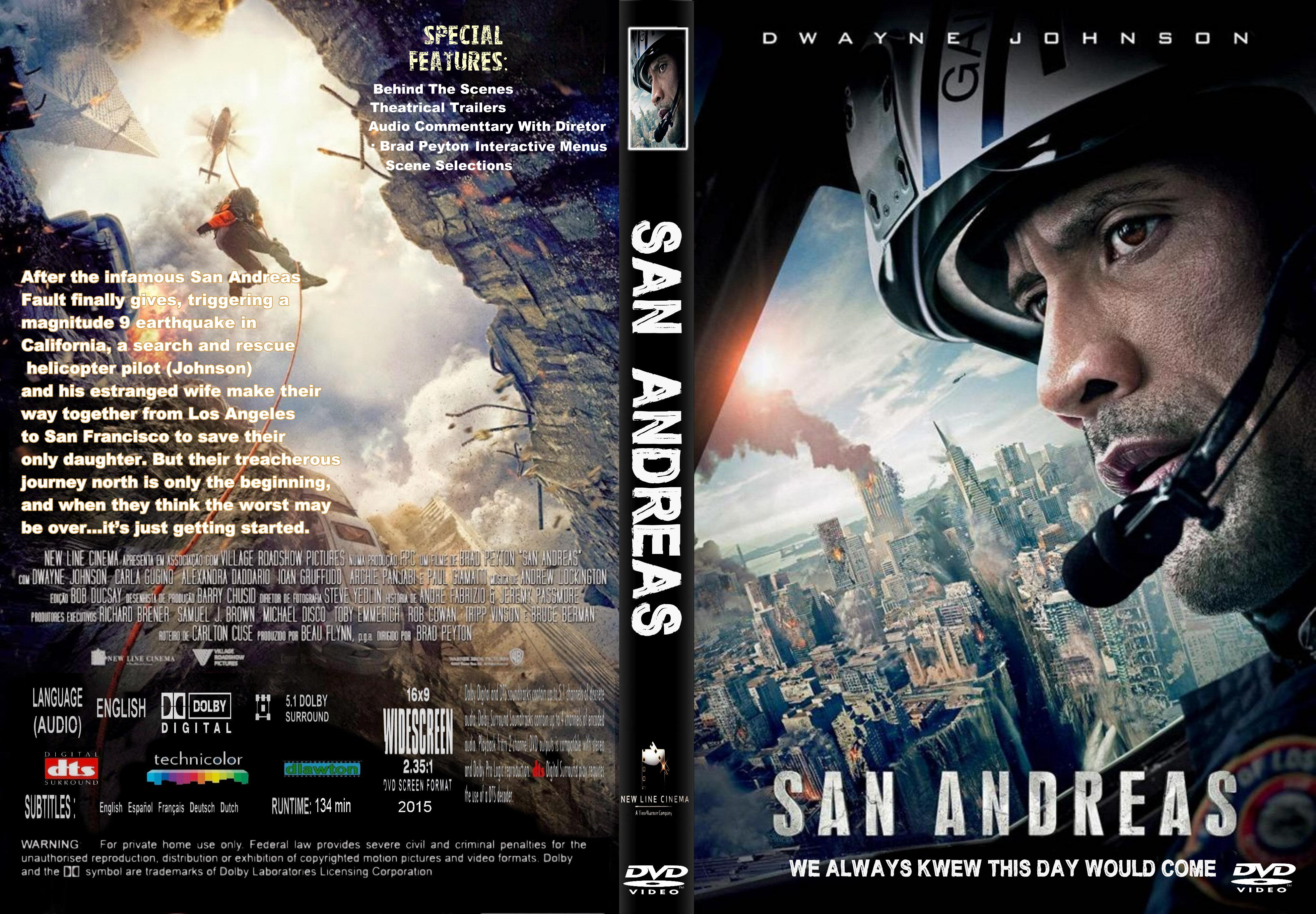 San Andreas 2015 R1 Custom Dvd Covers Cover Century Over 500 000 Album Art Covers For Free