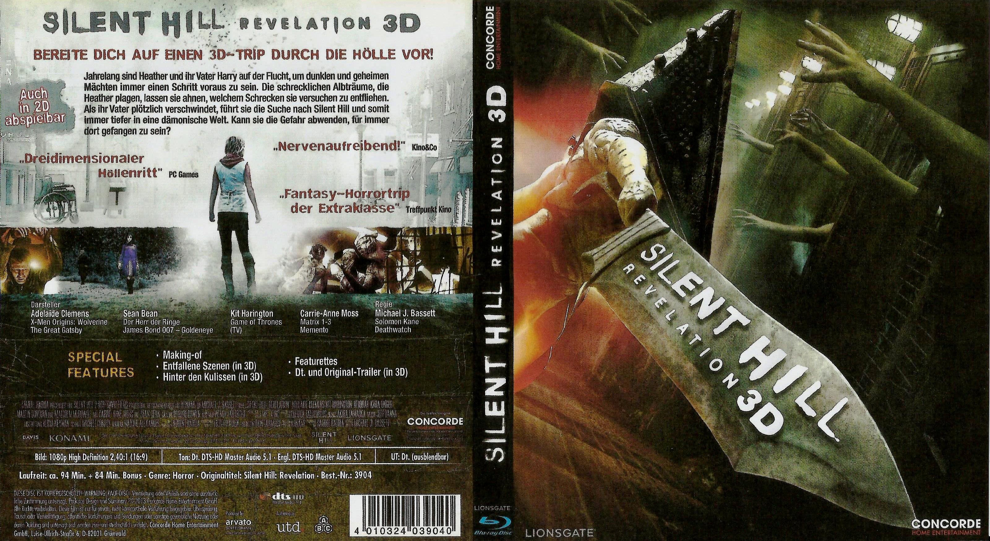 Silent Hill Revelation 3d Blu Ray Dvd Covers Cover Century Over 500 000 Album Art Covers For Free