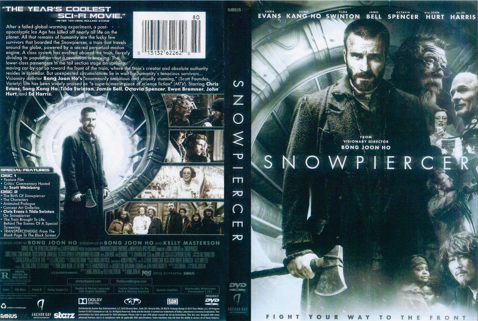 snowpiercer 2013 r1 front | DVD Covers | Cover Century