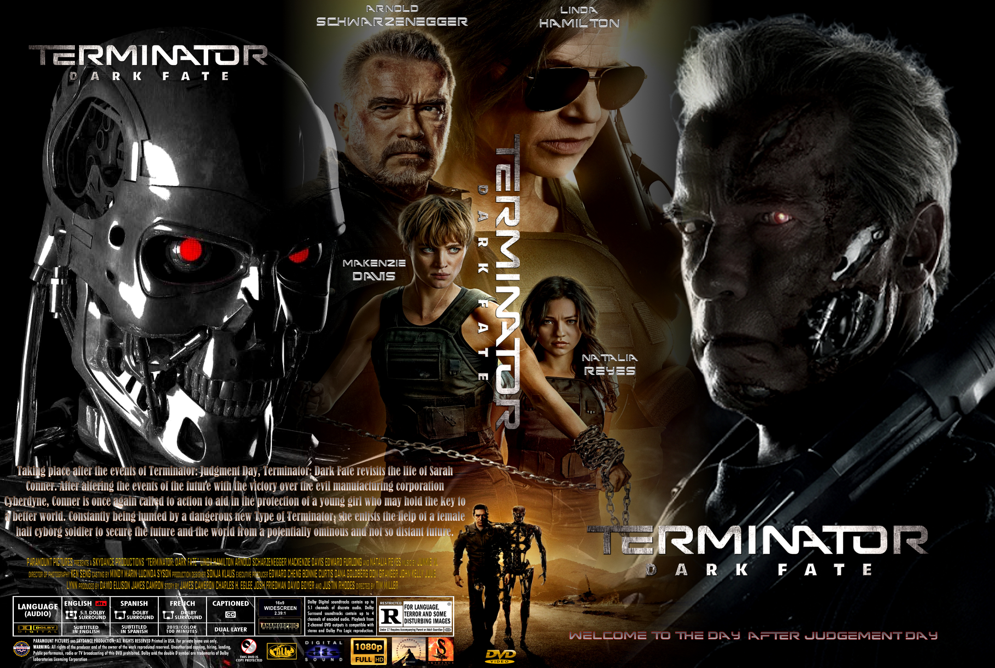 Terminator Dark Fate (2019) : Front | DVD Covers | Cover Century | Over  500.000 Album Art covers for free