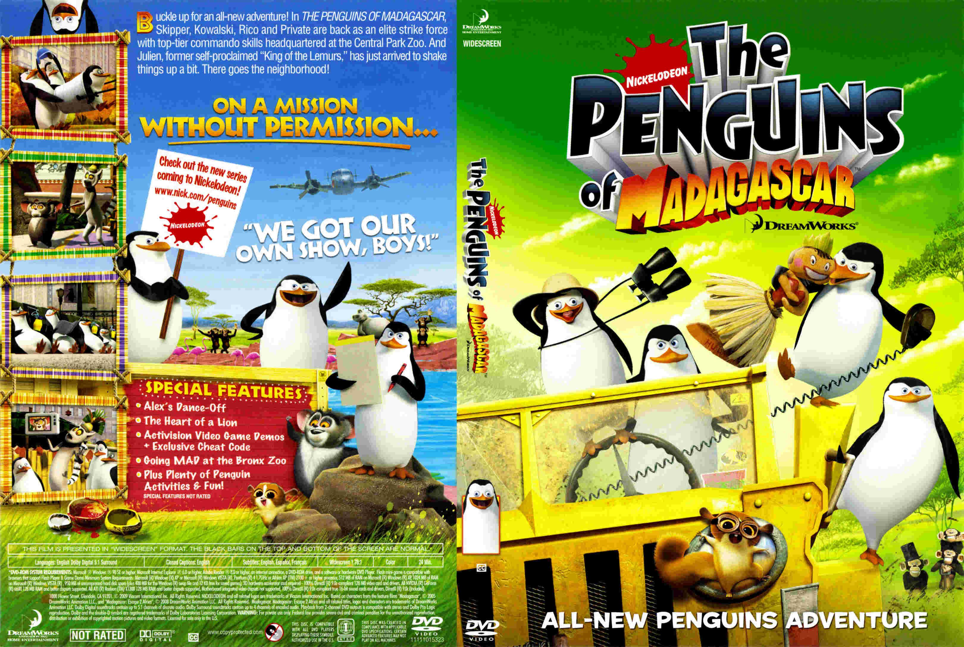 The Penguins Of Madagascar DVD US | DVD Covers | Cover