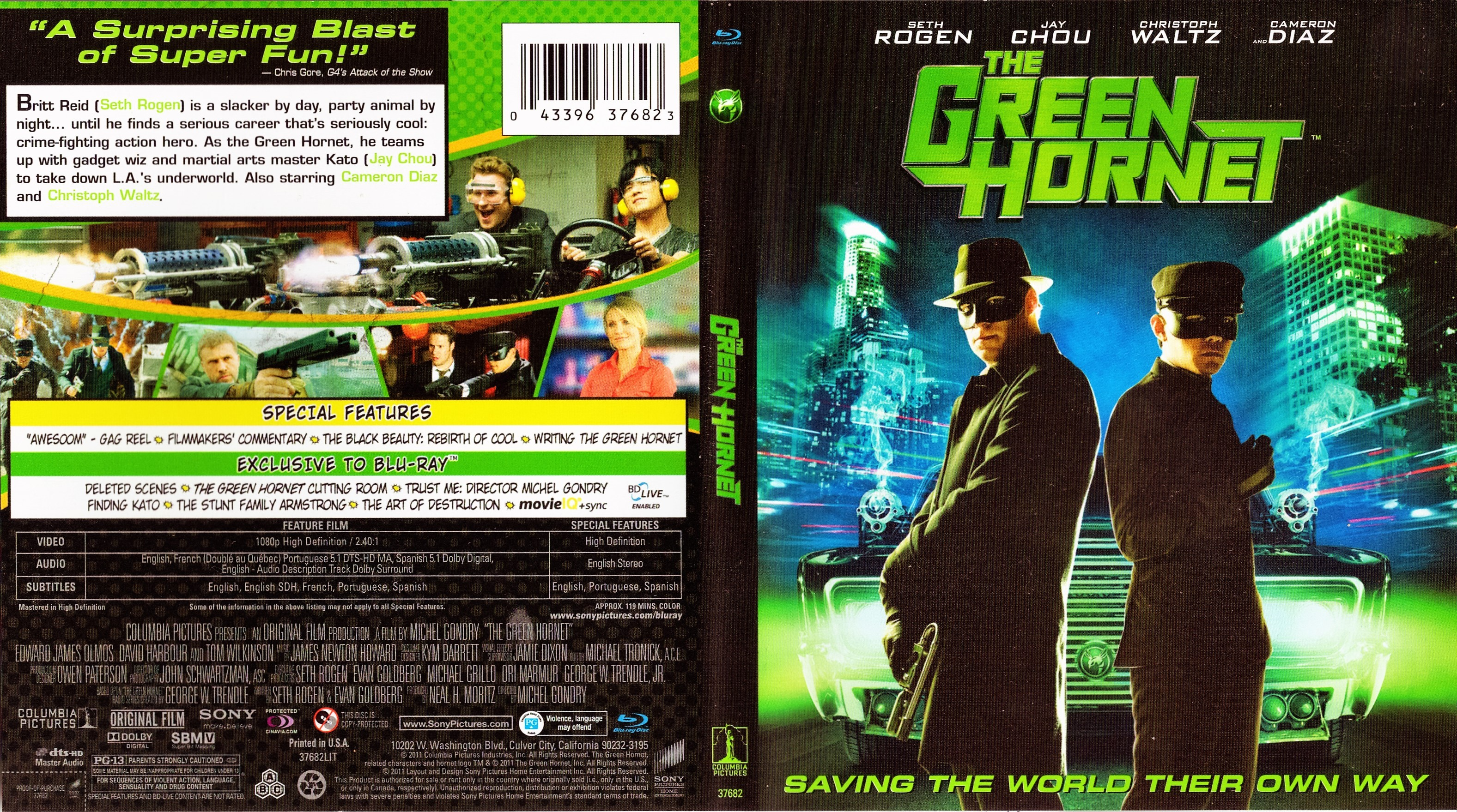 The Green Hornet 2011 R1 Blu Ray Cover Dvd Covers Cover Century Over 500 000 Album Art Covers For Free