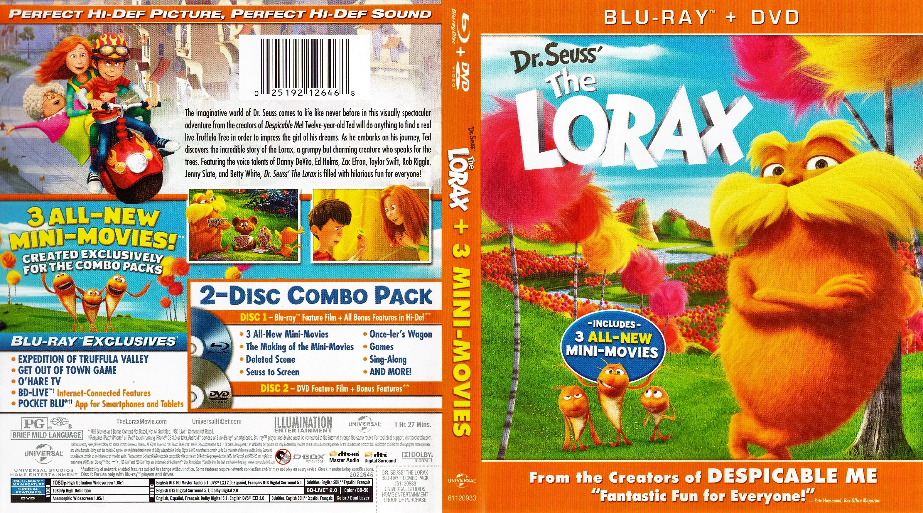 The Lorax 2012 R1 Blu Ray Cover Dvd Covers Cover Century Over 500 000 Album Art Covers For Free