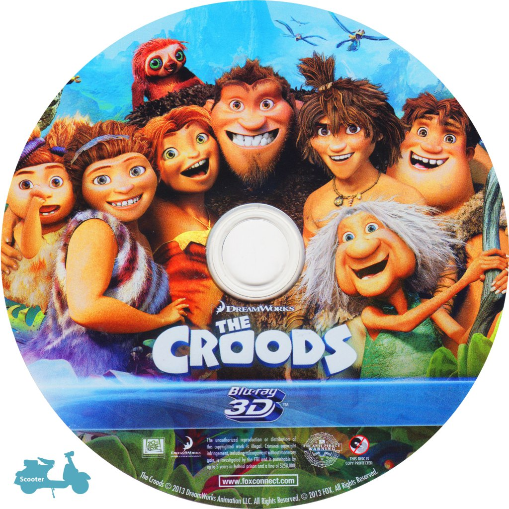 The Croods 2013 Scanned 3d Label Dvd Covers Cover Century Over 500 000 Album Art Covers For Free