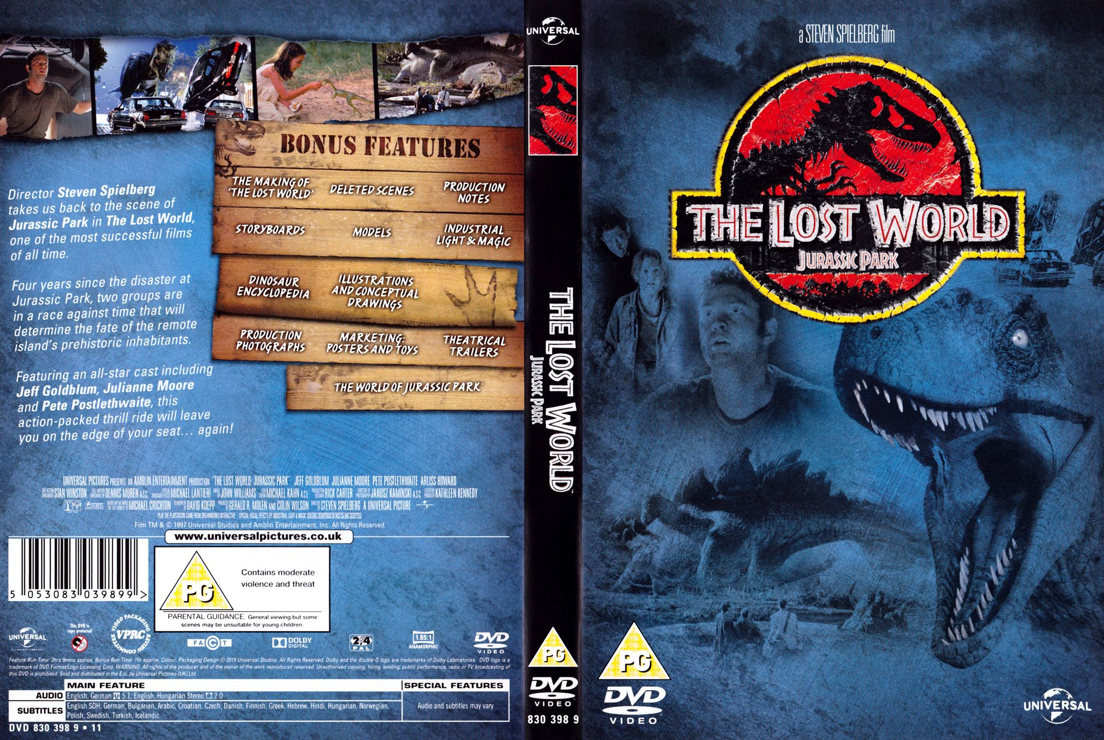 The Lost World Jurassic Park 1997 R2 Cover Dvd Covers Cover Century Over 500 000 Album Art Covers For Free