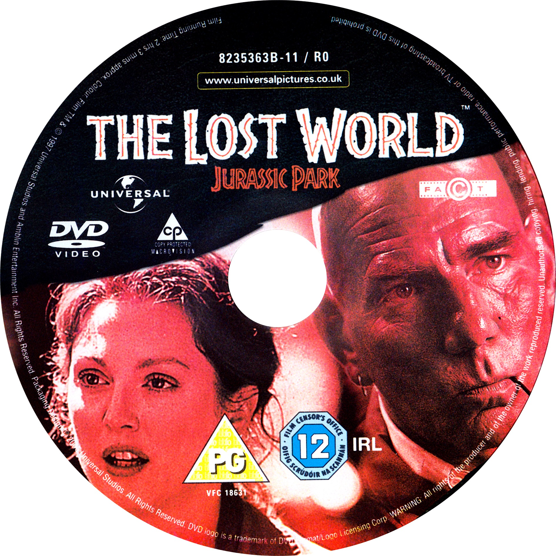 The Lost World Jurassic Park 1997 R2 Label Dvd Covers Cover Century Over 500 000 Album Art Covers For Free