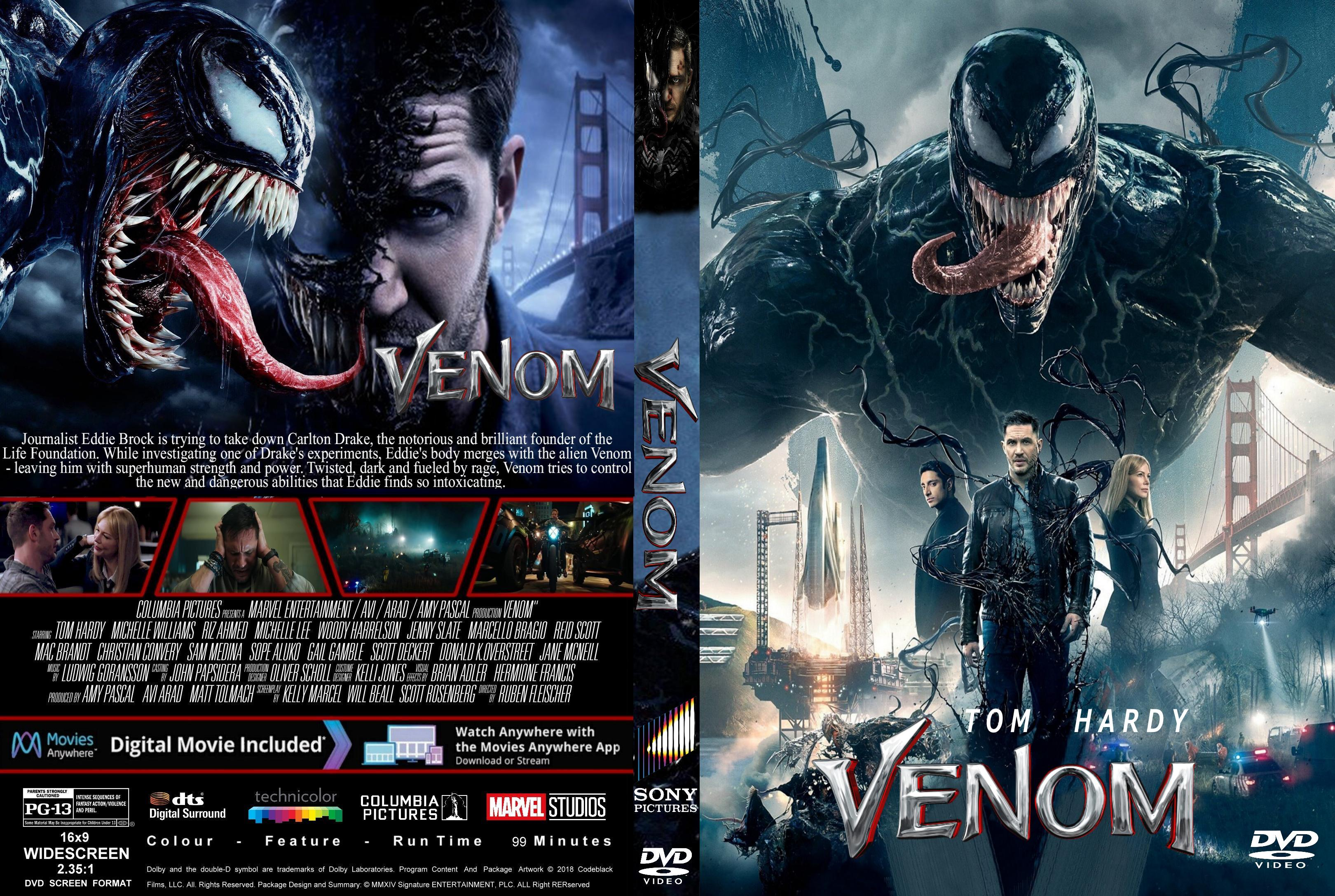 Venom (2018) : Front   DVD Covers   Cover Century   Over